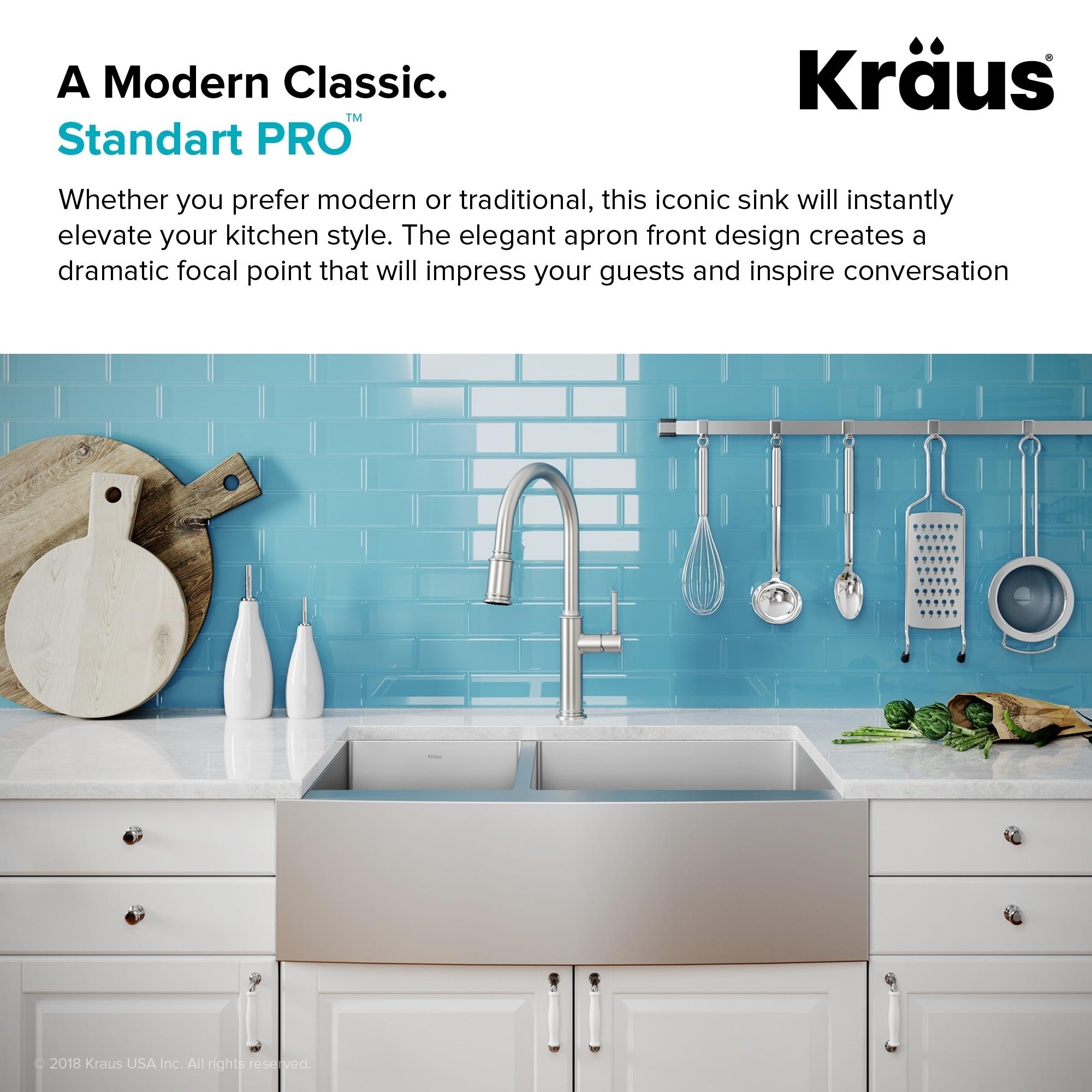 Shop Kraus KHF204-33 Standart PRO Farmhouse Apron 33-inch 16 gauge ...