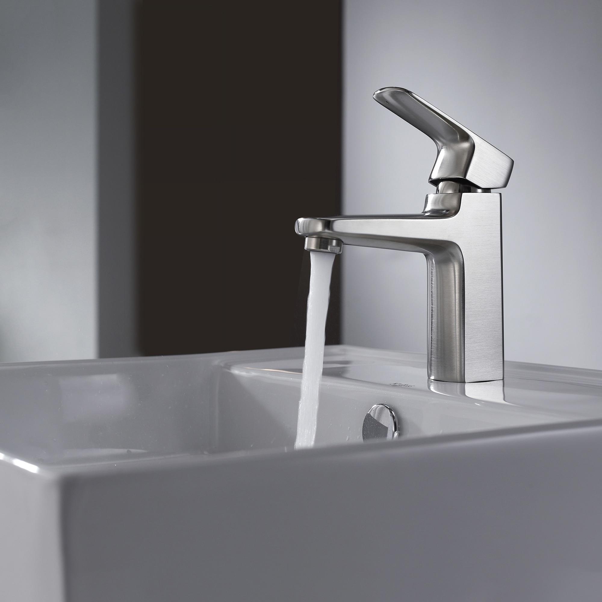 Shop Kraus KEF-15501 Virtus Single Hole Single-Handle Bathroom Basin ...