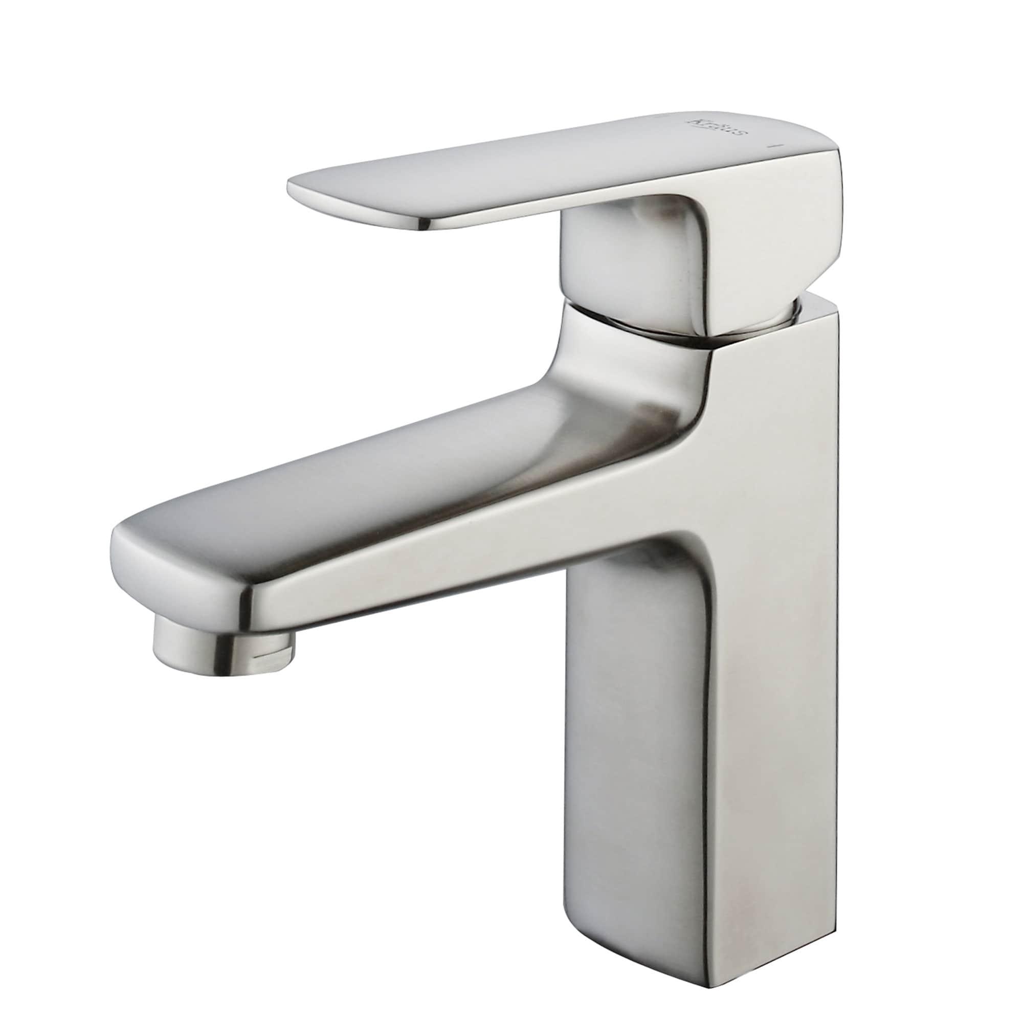 KRAUS Virtus Single Hole Single-Handle Vessel Bathroom Faucet in ...