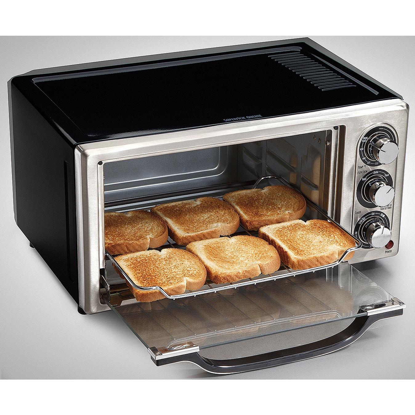 Hamilton Beach Black Convection 6 slice Toaster Oven w Broiler