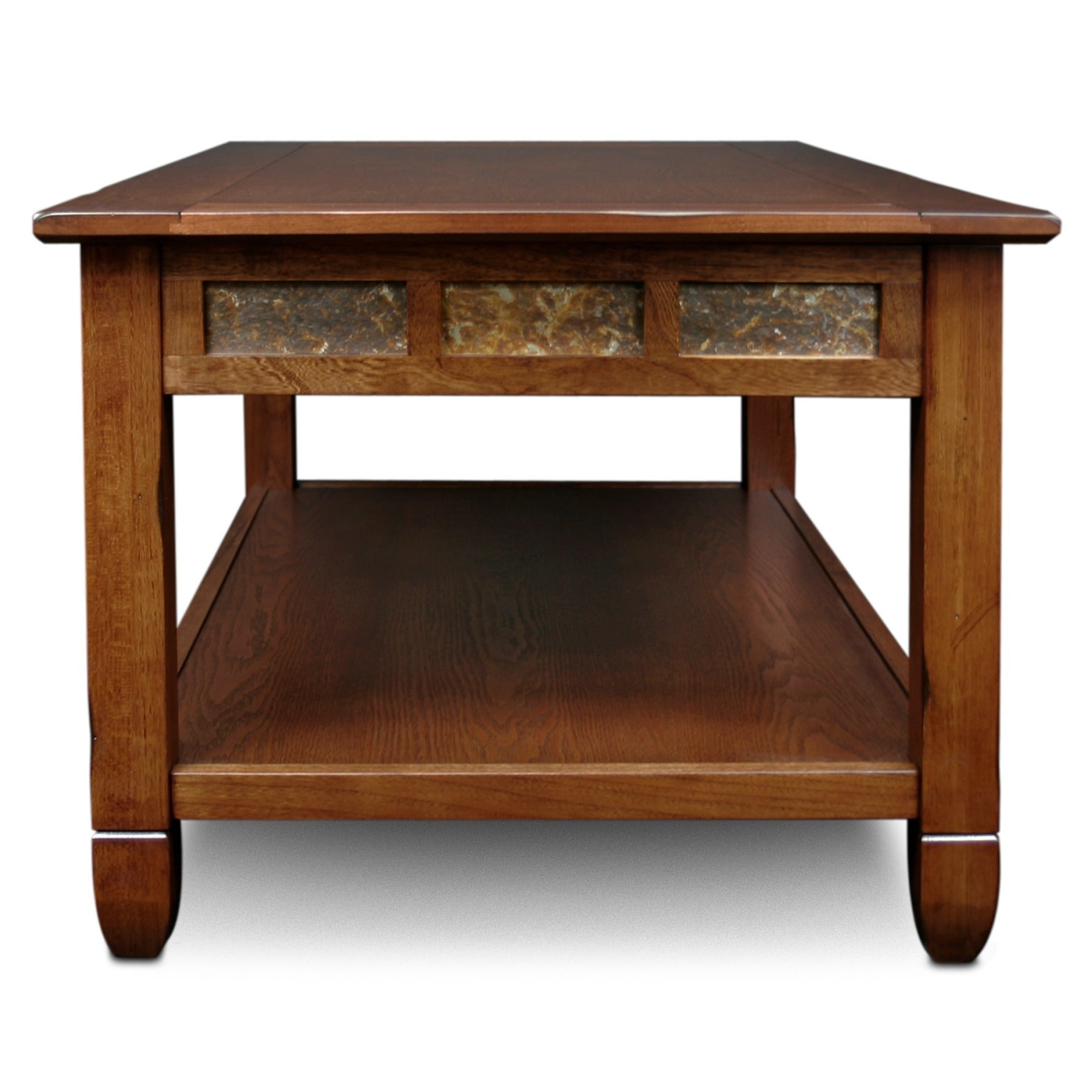 Shop Rustic Oak Coffee Table   Free Shipping Today   Overstock.com   6483849