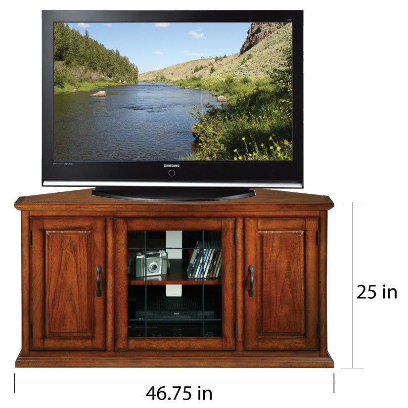 Burnished Oak 50 Inch Tv Stand And Media Corner Console