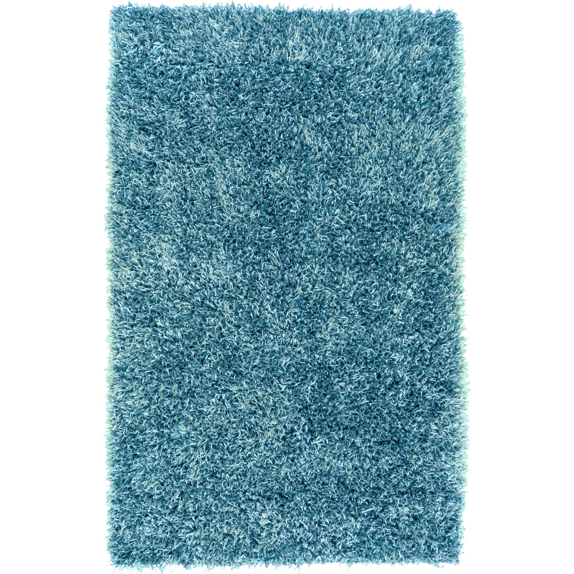 Shop Hand-woven Teal Blue Milwaukee Soft Plush Shag Area Rug - 8\' x ...