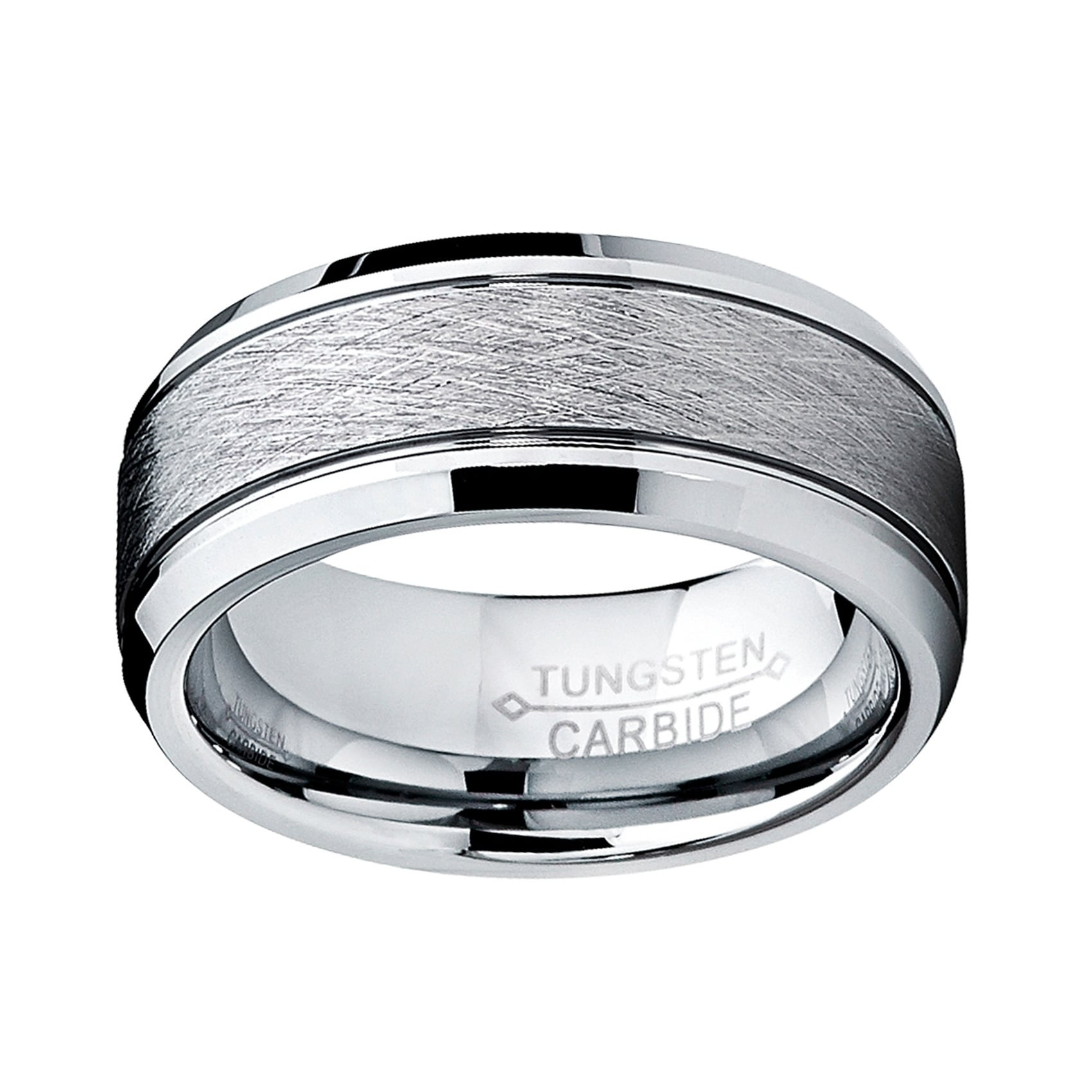 Black Tungsten Carbide Fish N Hunt Ring 8mm Wedding Band Anniversary Ring for Men and Women Size 10.5
