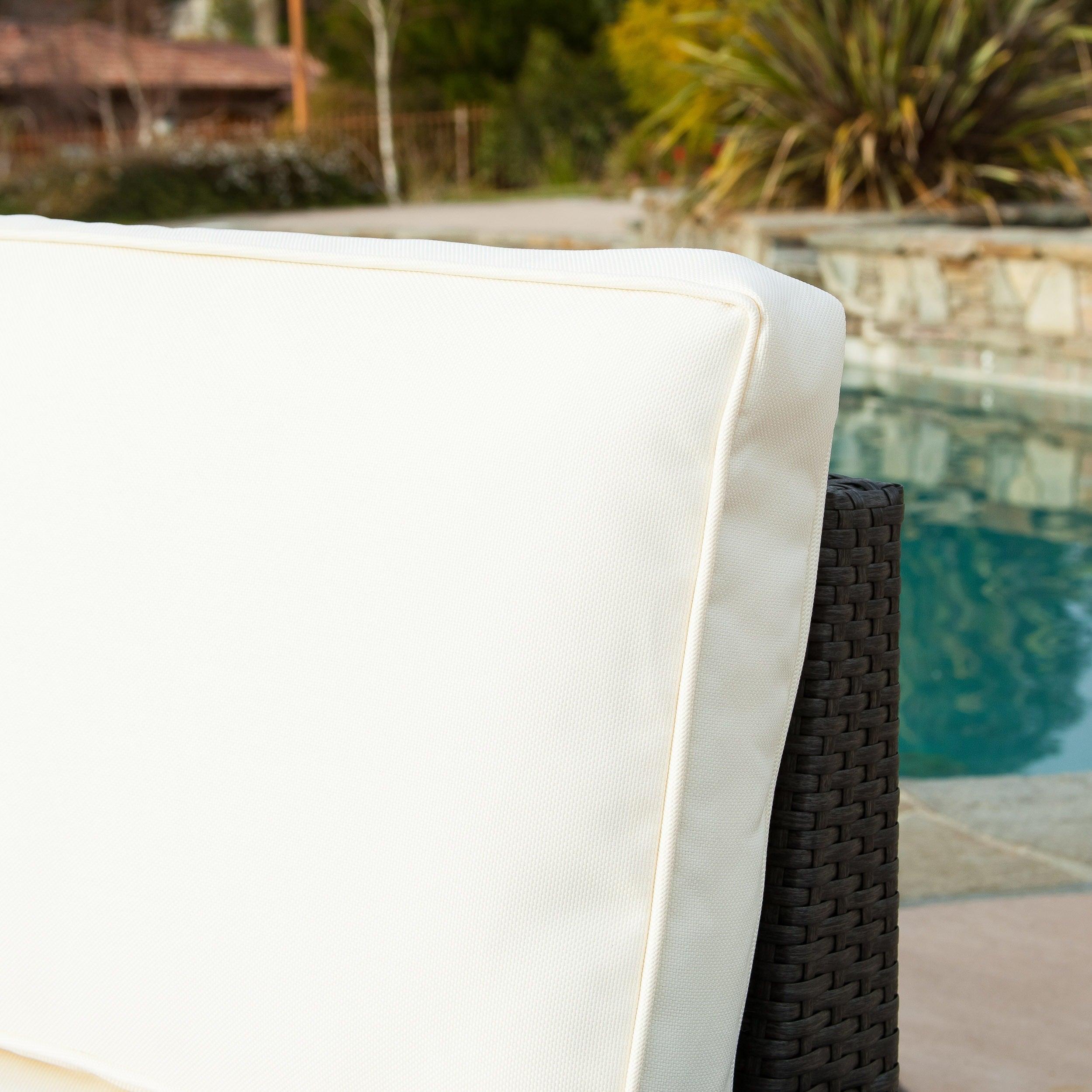 Santa Cruz Outdoor 6-piece Wicker Sofa Set by Christopher Knight ...