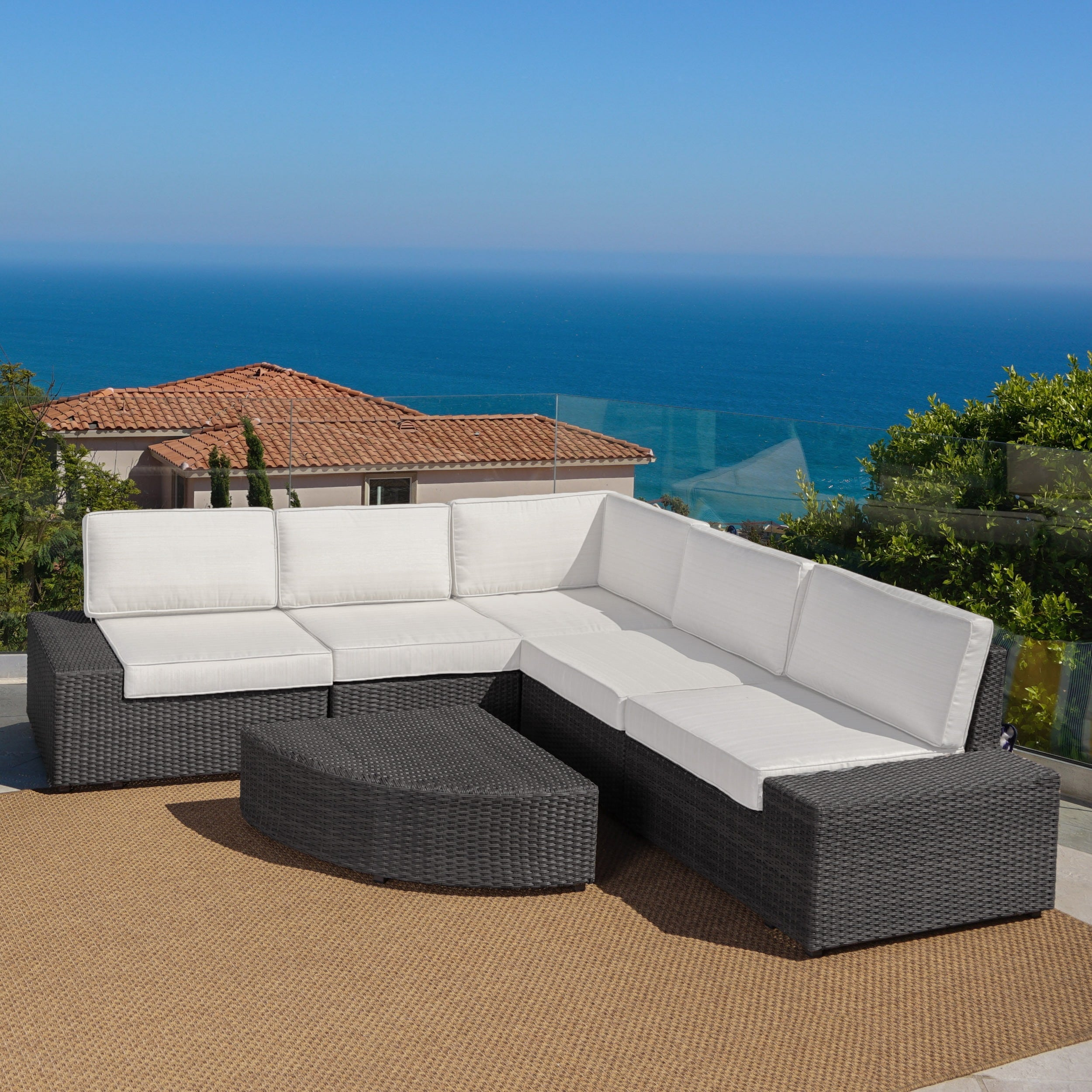 Shop Clay Alder Home Best Sail Bridge Outdoor 6 Piece Wicker Sofa Set   On  Sale   Free Shipping Today   Overstock.com   21258219