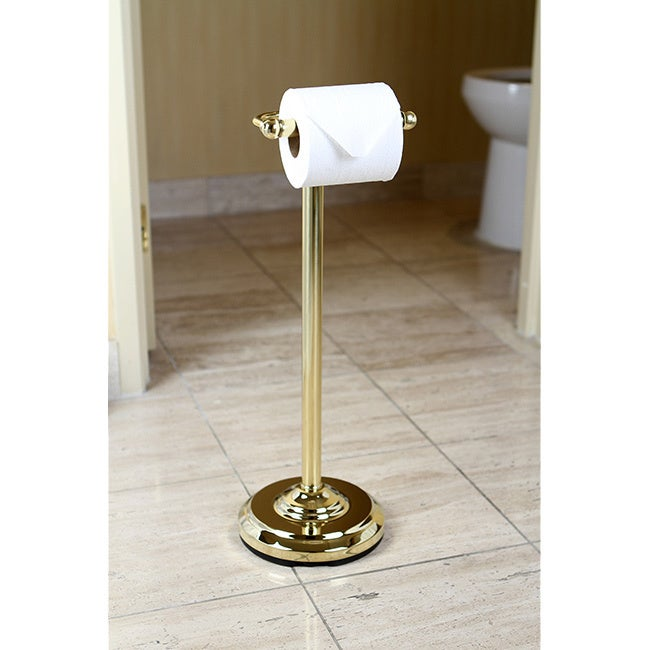 Pedestal Polished Br Standing Toilet Paper Holder Free Shipping Today 6493716