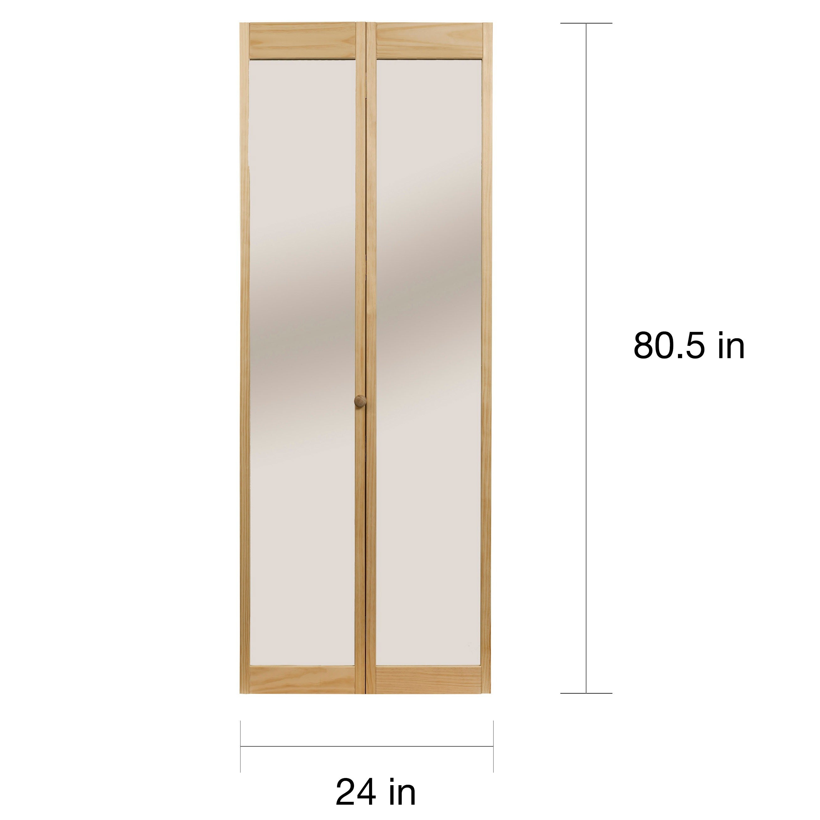 Shop 907 Traditional 24 Inch Wide Unfinished Natural Pine Bifold Mirror  Doors   Free Shipping Today   Overstock.com   6493726