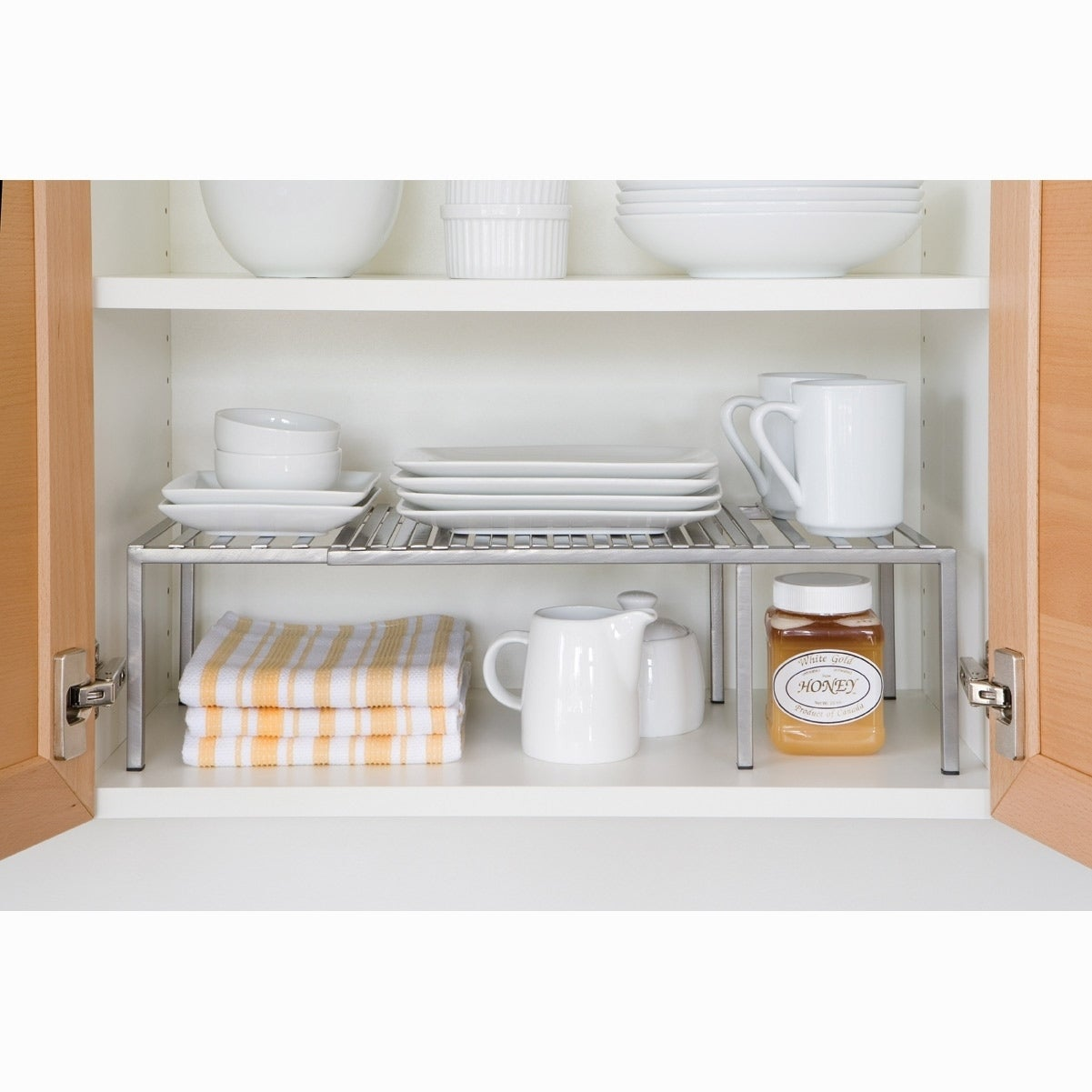 Seville Classics Expandable Kitchen Cabinet Shelf Organizer