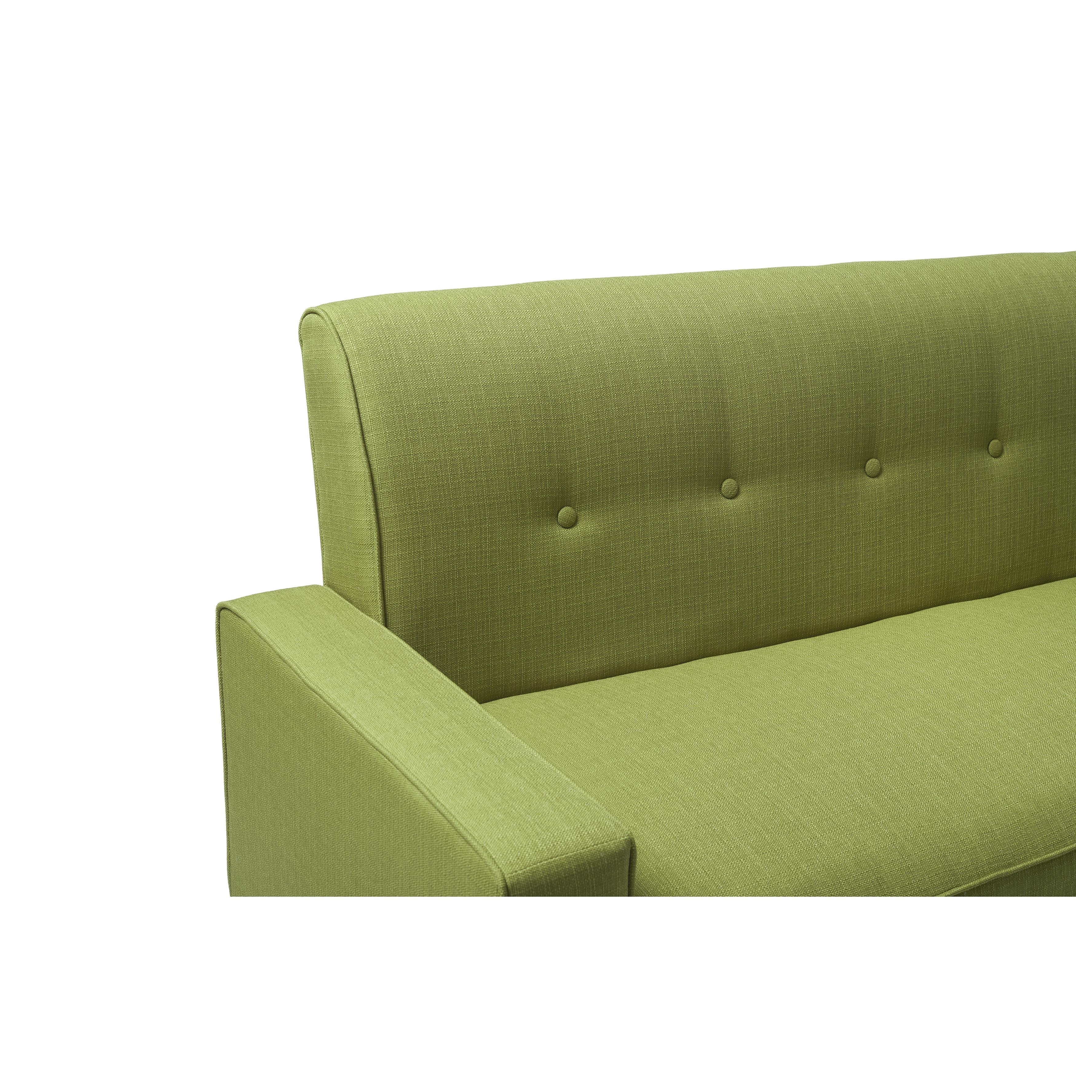 Handy Living Ellie Apple Green Linen Sofa Free Shipping Today