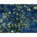 Van Gogh 'Branches of an Almond Tree' Hand-painted Felt Backed Tile