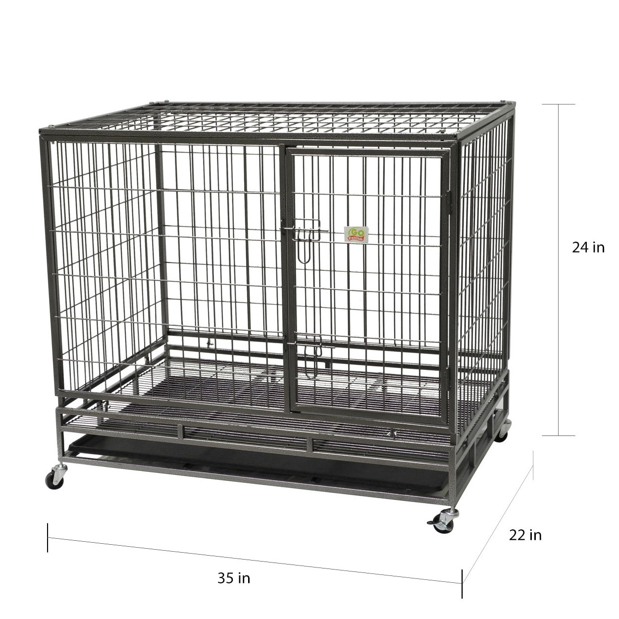 Go Pet Club Heavy-Duty Metal Wire Pet Cage - Free Shipping Today ...