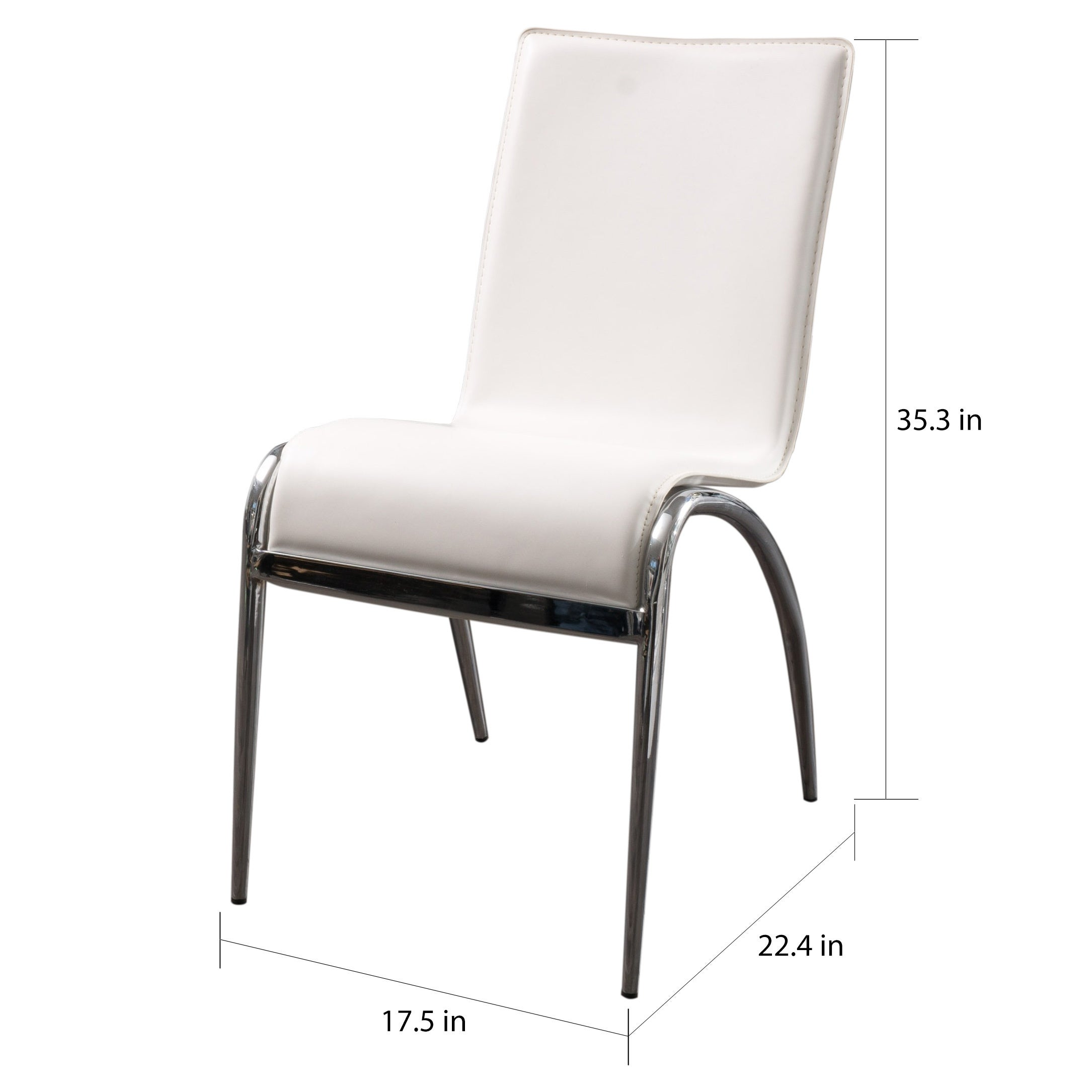 Shop kensington modern white dining chair set of 2 by christopher knight home on sale free shipping today overstock 6504313