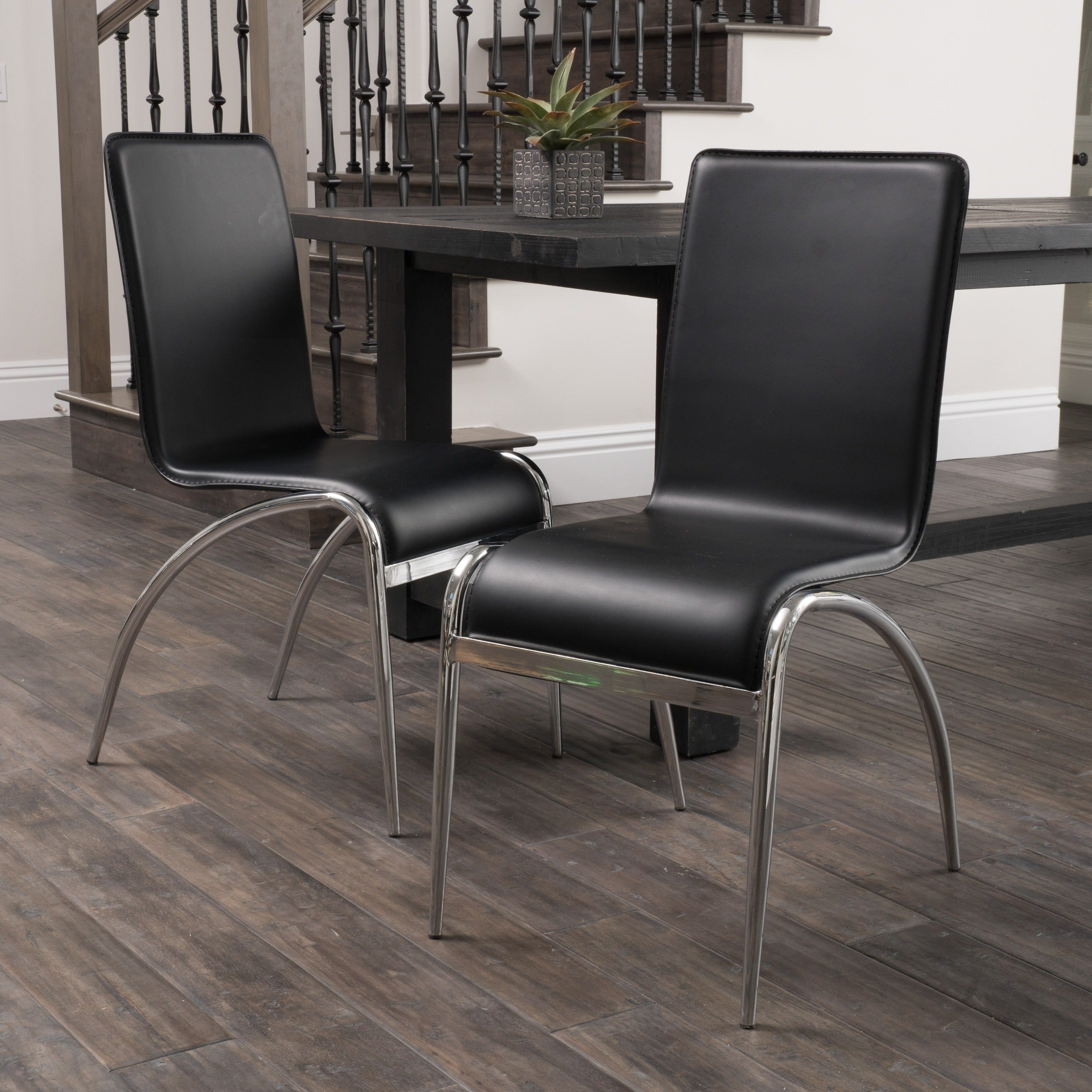 Shop kensington black modern chair set of 2 by christopher knight home on sale free shipping today overstock 6504352