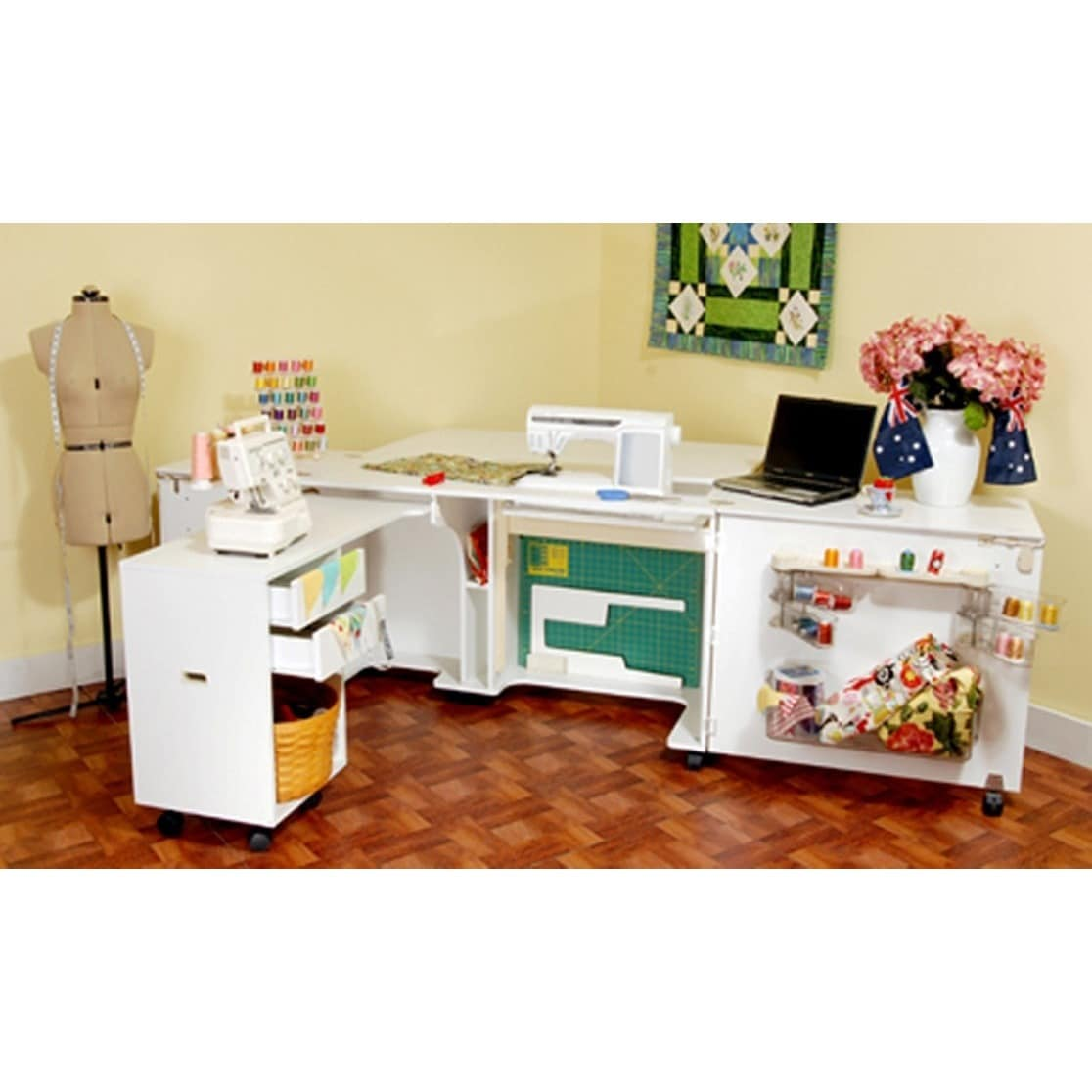 Shop Kangaroo Kabinets Aussie Sewing Machine Table Furniture Storage Diagram Car Interior Design Cabinet Free Shipping Today 6504676