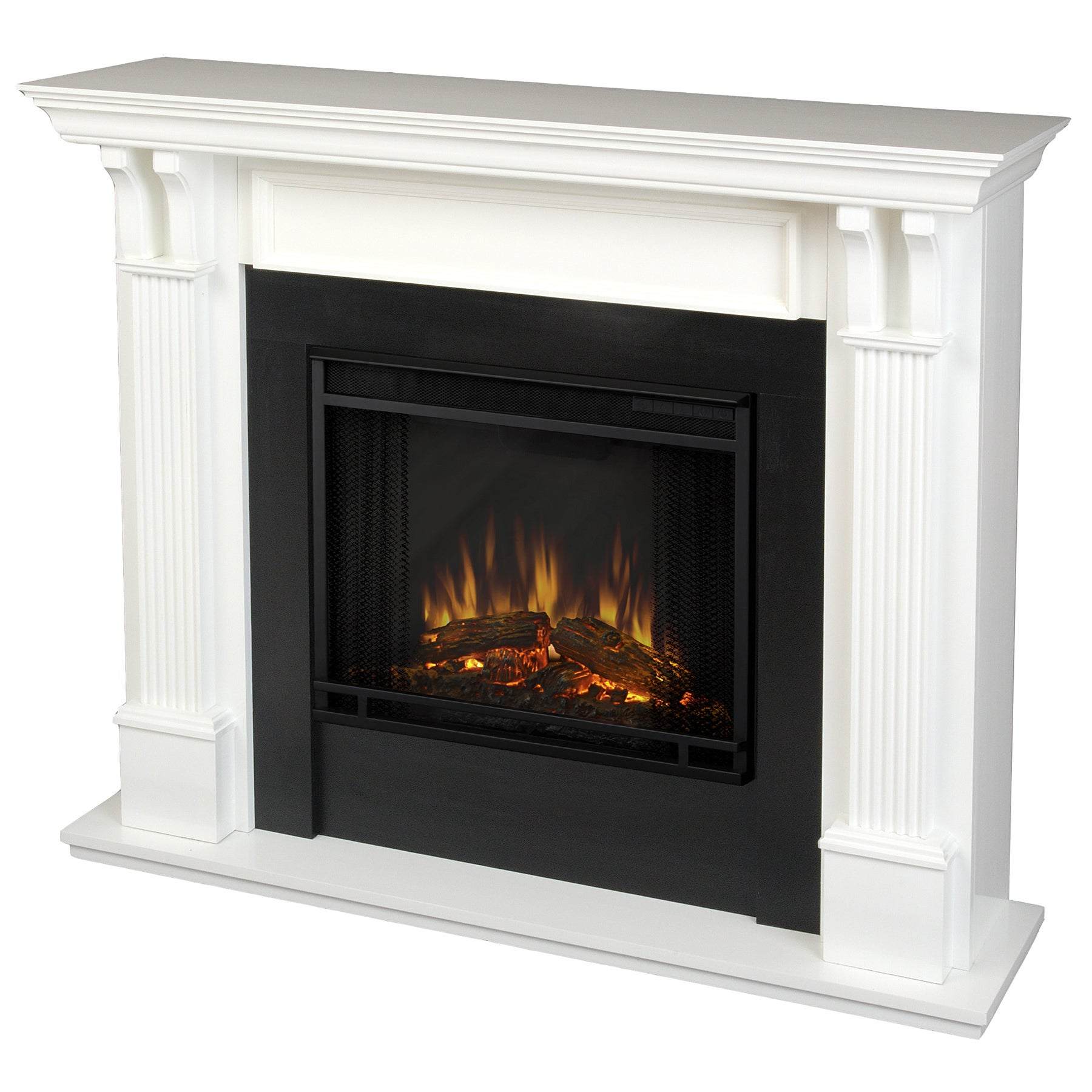 Real flame ashley electric fireplace white free shipping today overstock com 14105096