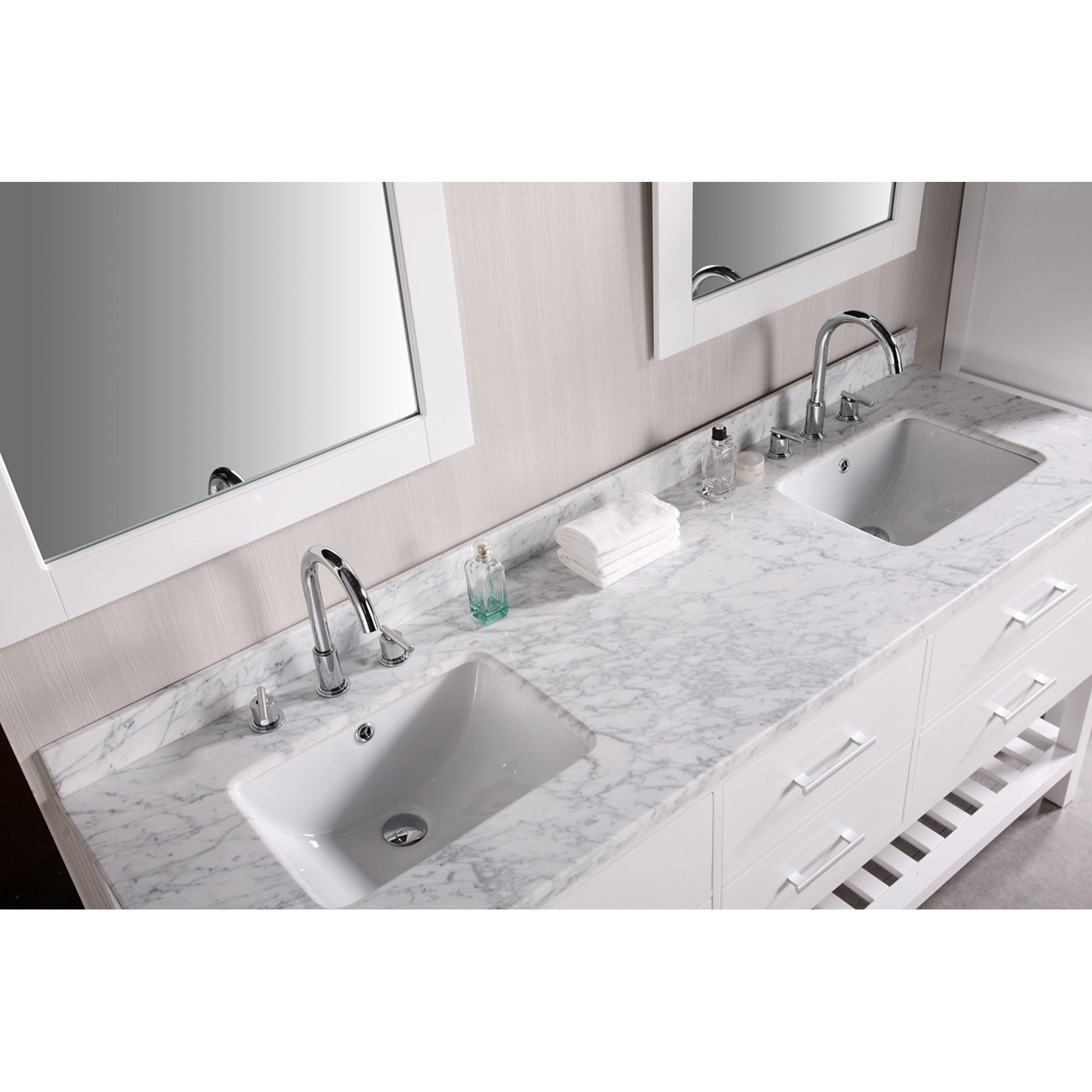 Shop Design Element London 72-inch Double Sink Bathroom Vanity Set ...