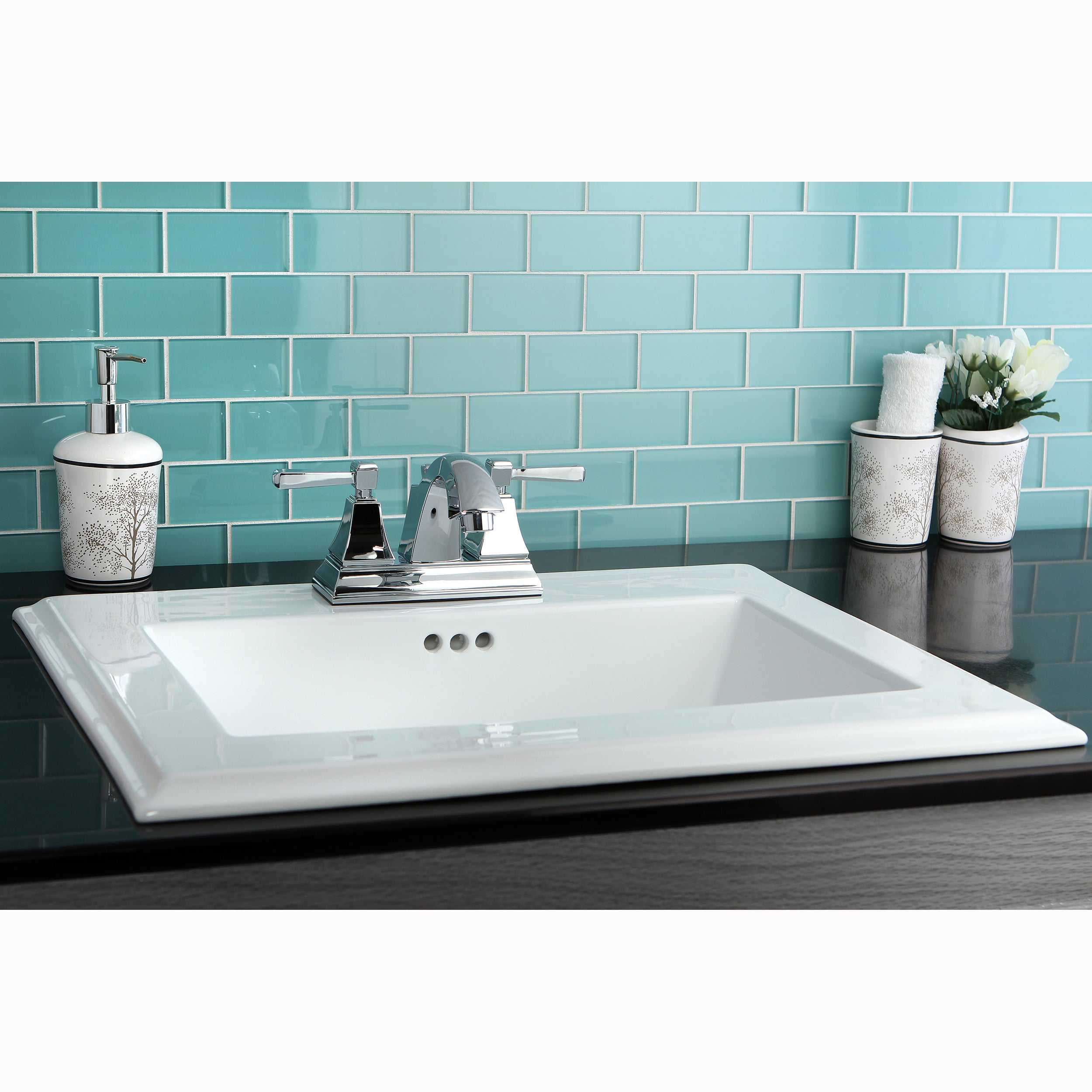 Surface Mount 4-inch Center Bathroom Sink - Free Shipping Today ...
