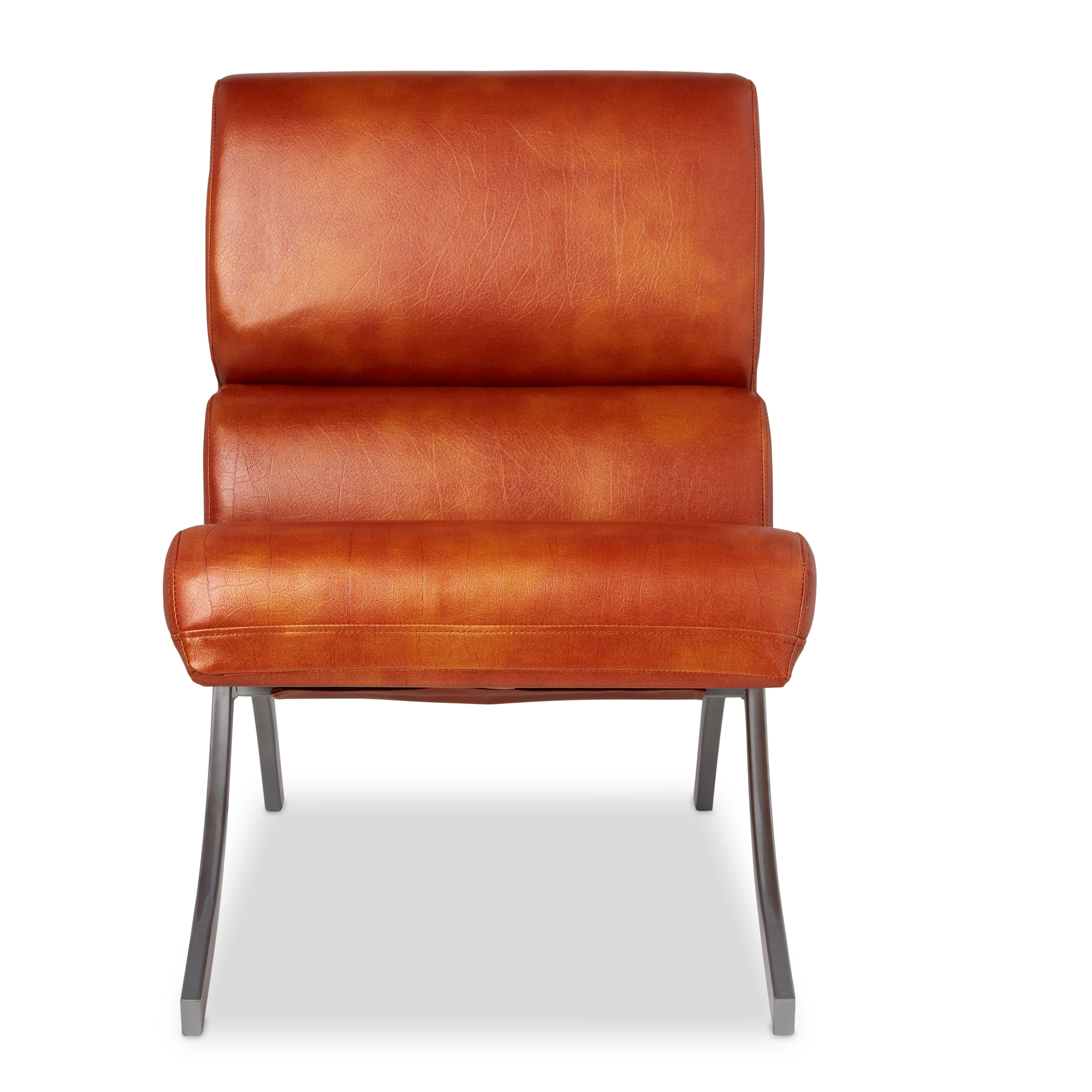 Shop Clay Alder Home Rialto Rust Faux Leather Chair - Free Shipping Today - Overstock.com - 6527279  sc 1 st  Overstock.com & Shop Clay Alder Home Rialto Rust Faux Leather Chair - Free Shipping ...
