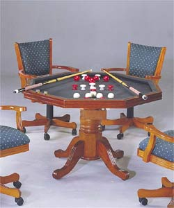 Shop 3 In 1 Bumper Pool, Dining, Poker Table W/ Chairs   Free Shipping  Today   Overstock.com   653418