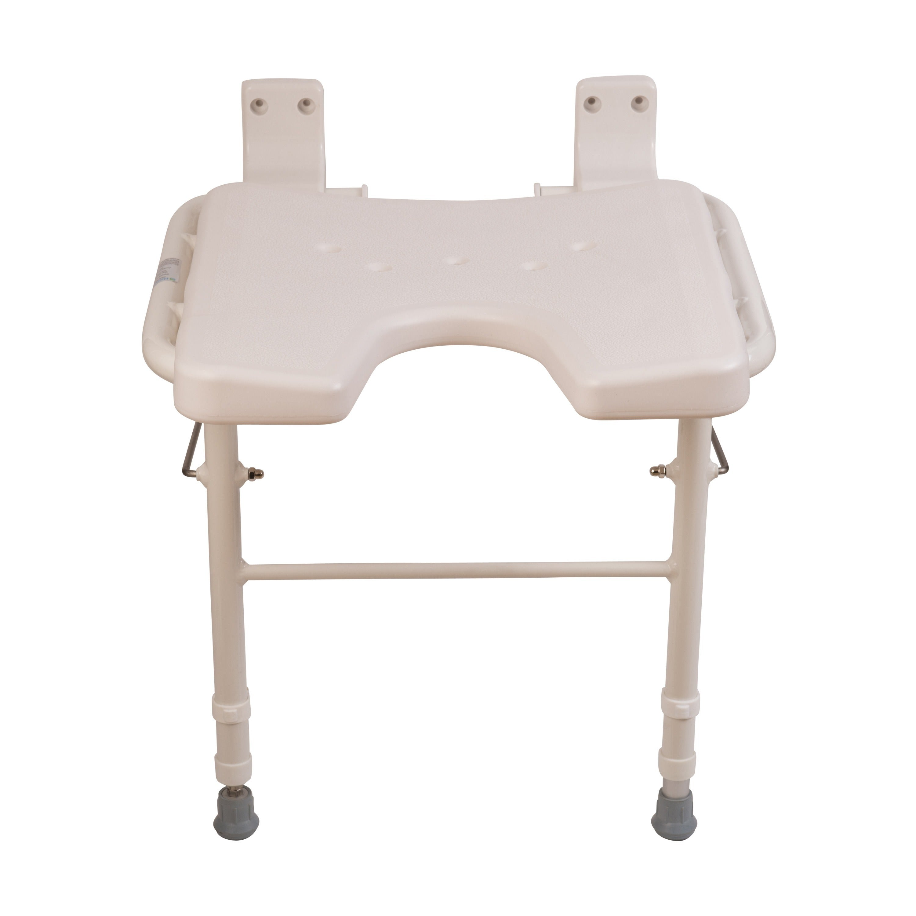Shop HealthSmart White Wall Mount Fold Away Bath Chair Shower Seat ...