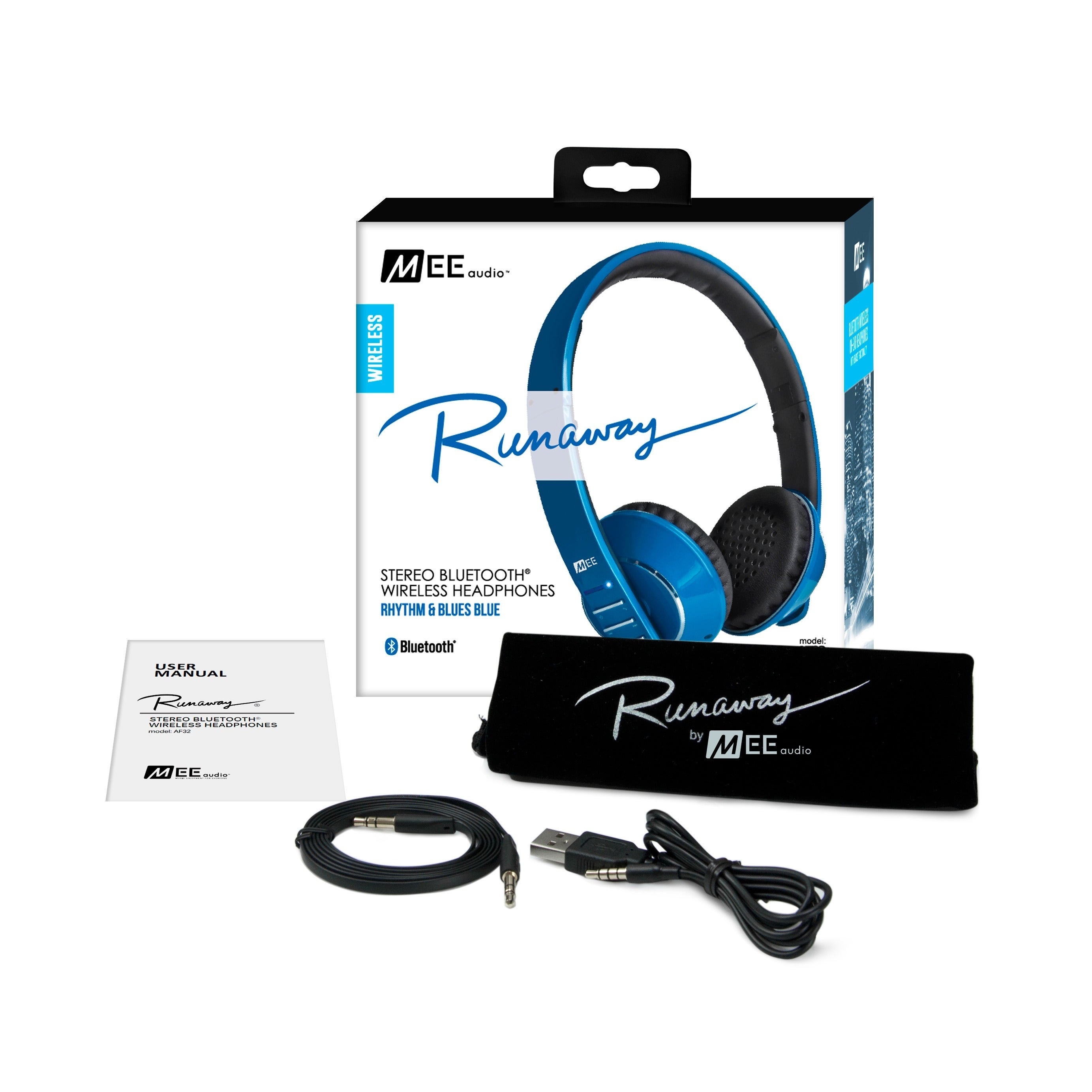 MEE audio Runaway AF32 Stereo Bluetooth Headphones