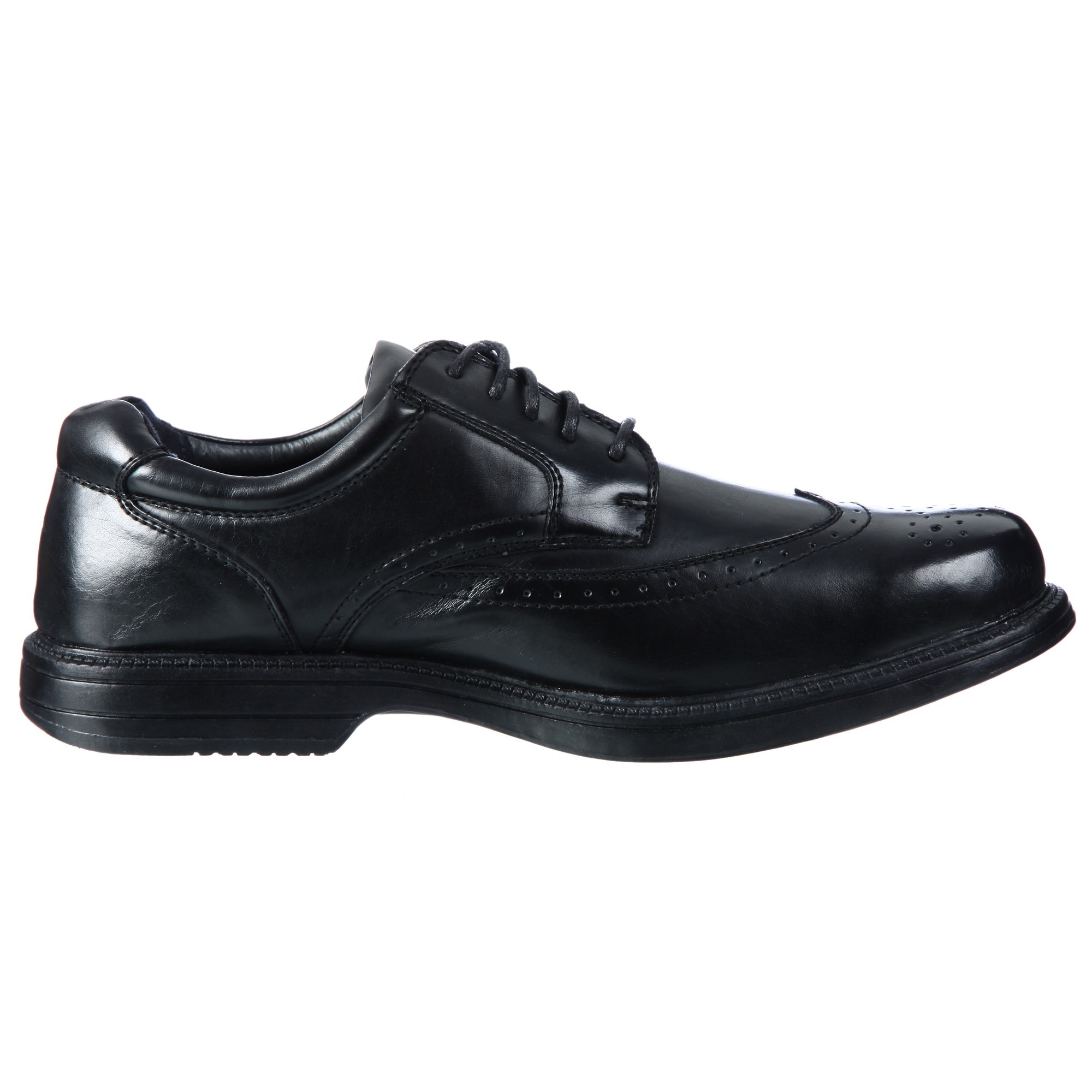 4400062d31a39e Shop Deer Stags Men s  Essex  Black Classic Wingtip Oxfords - Free Shipping  On Orders Over  45 - Overstock - 6537561