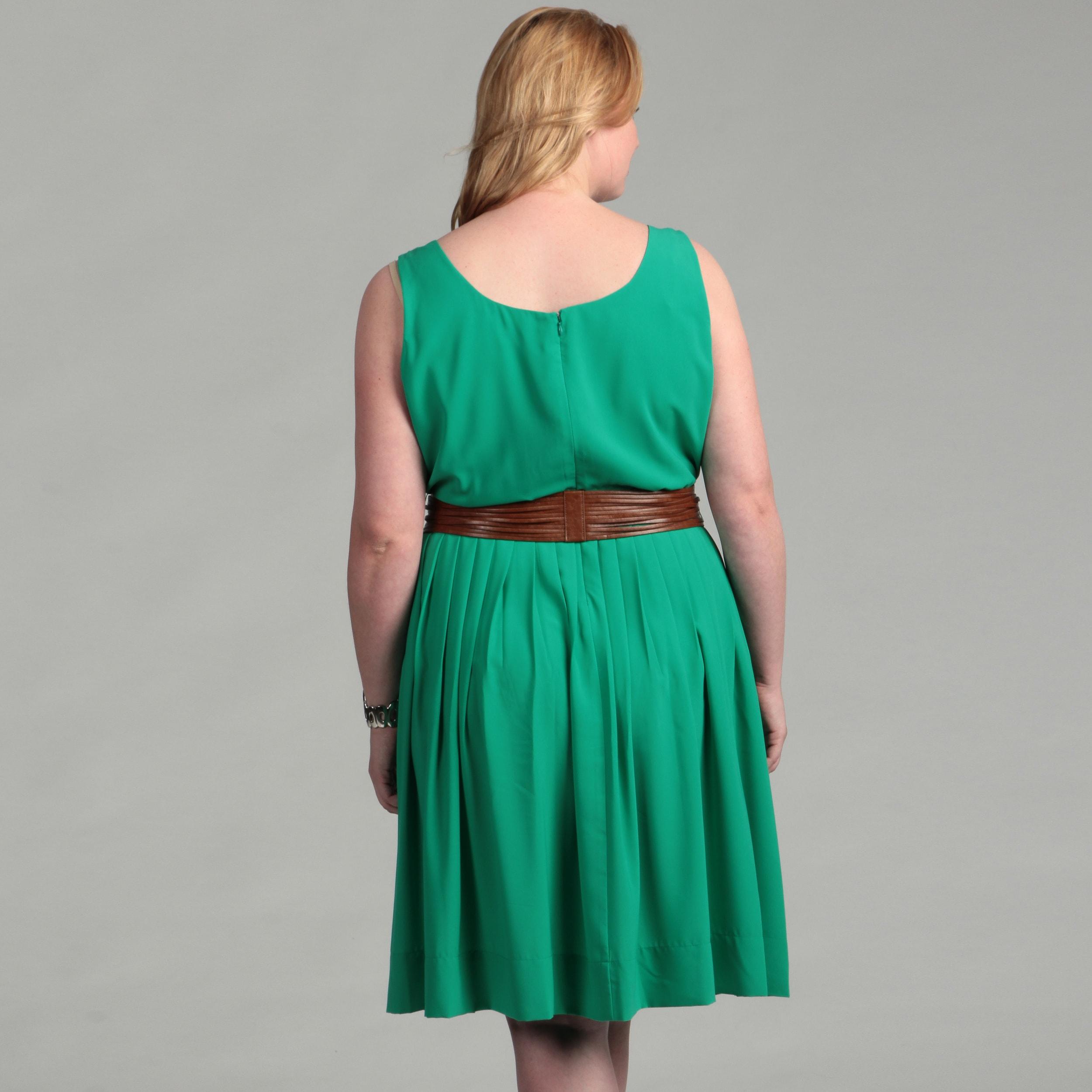 Shop Calvin Klein Women\'s Plus Size Kelly Green Dress - Free ...