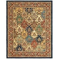 Safavieh Handmade Heritage Timeless Traditional Multicolor/ Burgundy Wool Rug (12' x 15')