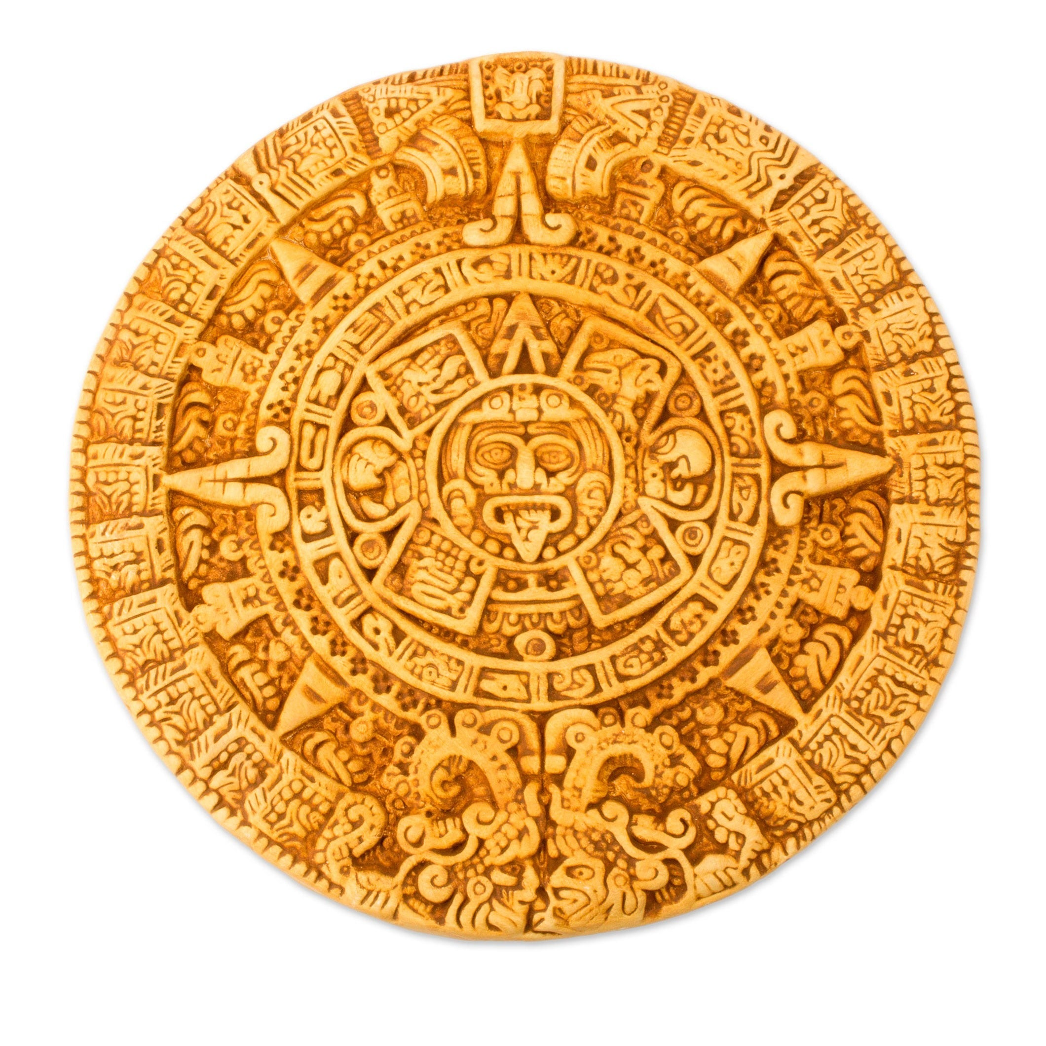 Shop Handmade Ceramic \'Aztec Calendar in Tan\' Plaque (Mexico) - On ...