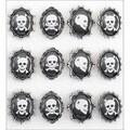 Jolee's Boutique Skull Cameos Parcel Dimensional Stickers