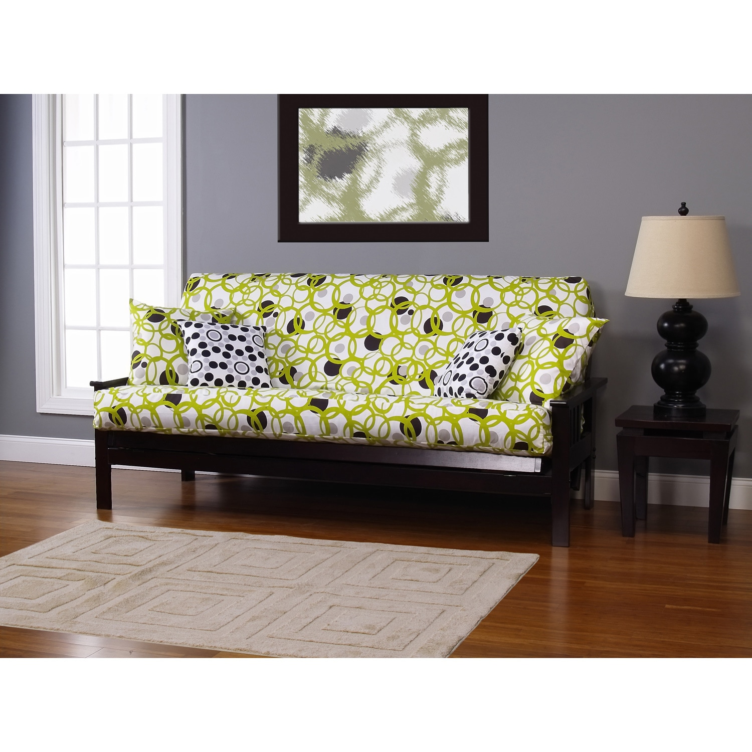 Siscovers Modern Circles Full Size Futon Cover Free Shipping Today Com 6559764