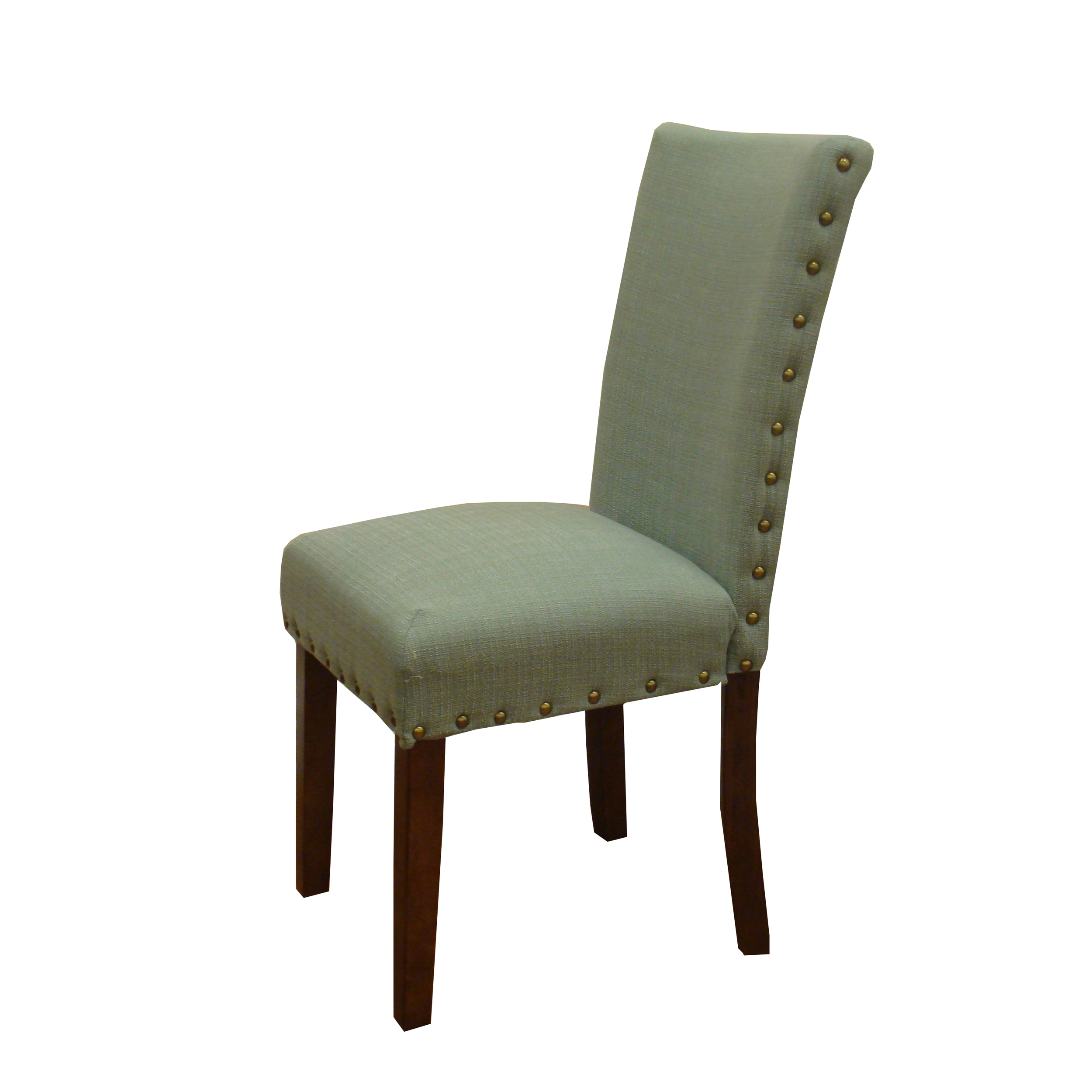 Shop HomePop Sea Foam Nail Head Parsons Chairs (Set Of 2)   On Sale   Free  Shipping Today   Overstock.com   6559829