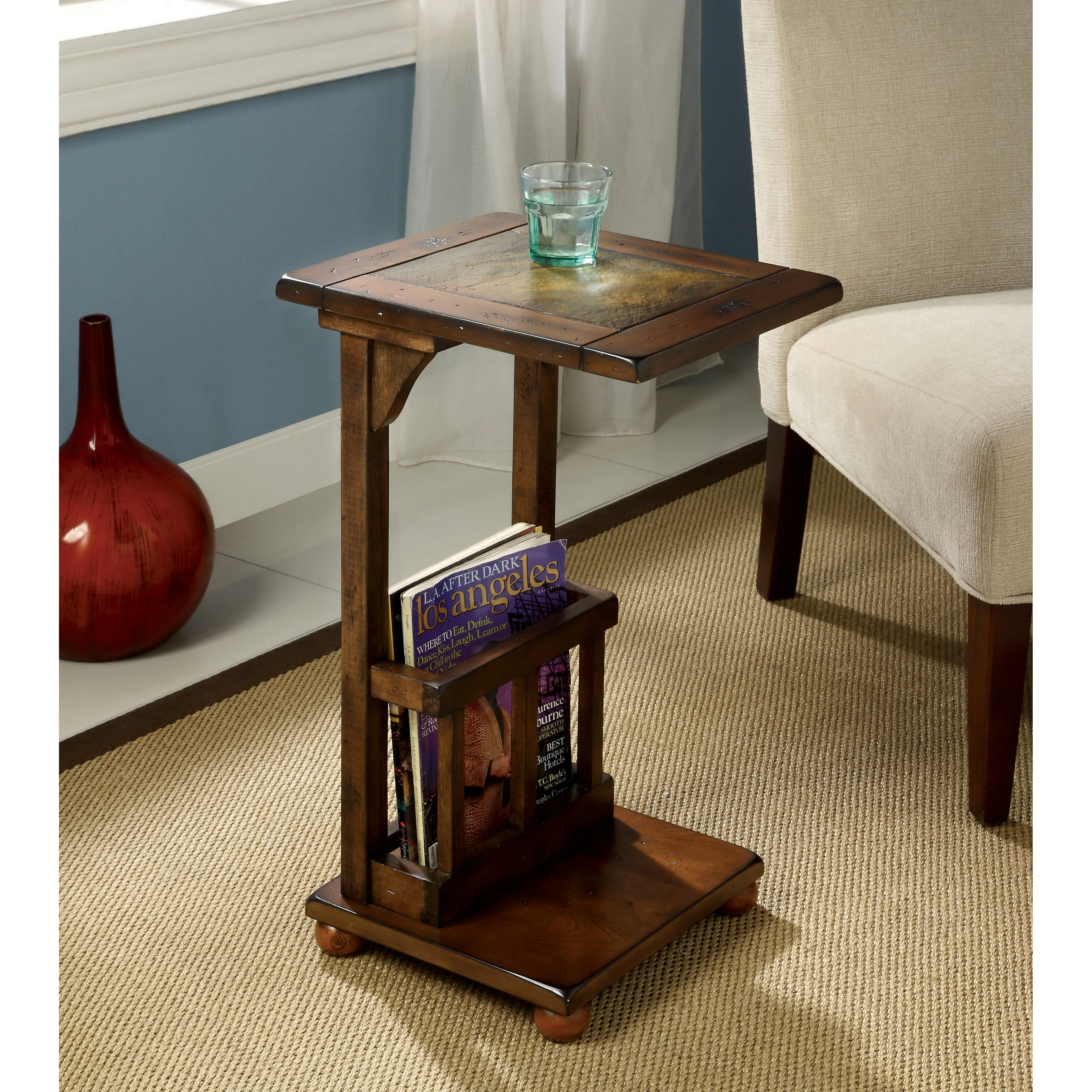 Furniture of America Slimming Sissy Magazine Rack End Table - Free Shipping  Today - Overstock.com - 14146770