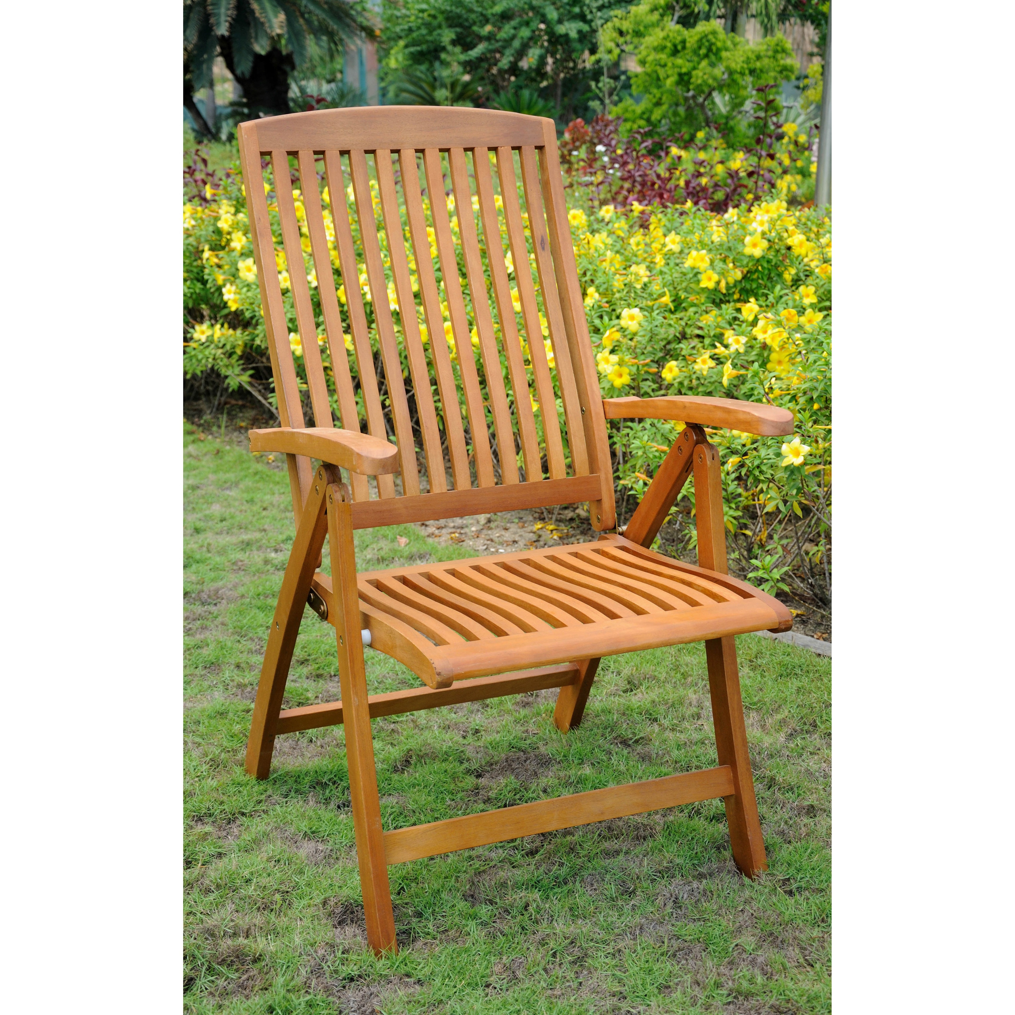 International Caravan Royal Tahiti 5 Position Folding Arm Chair (Set Of 2)    Free Shipping Today   Overstock   14146935