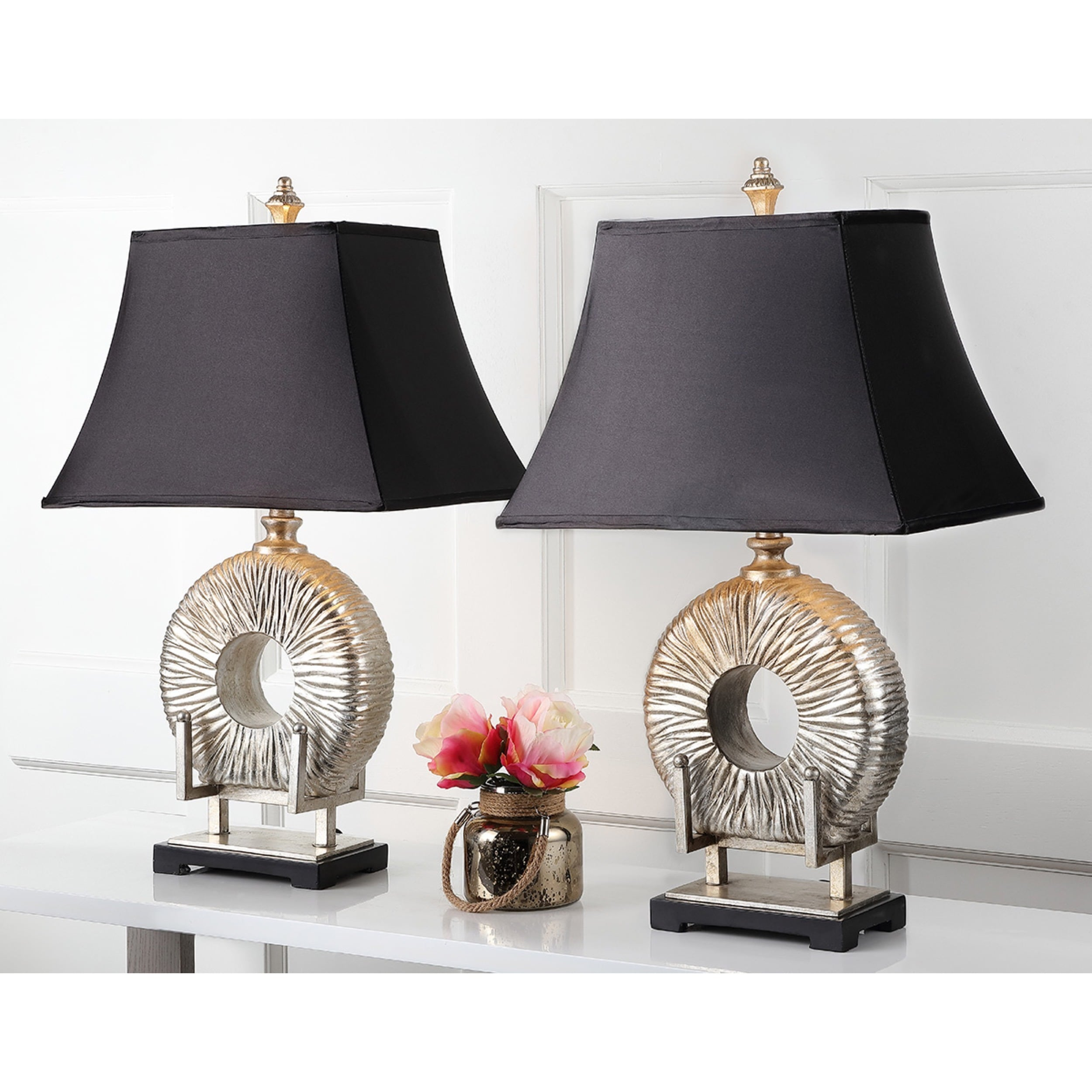 Shop Safavieh Lighting 29.5 Inch Midnight Circle Table Lamp (Set Of 2)   On  Sale   Free Shipping Today   Overstock.com   6575369