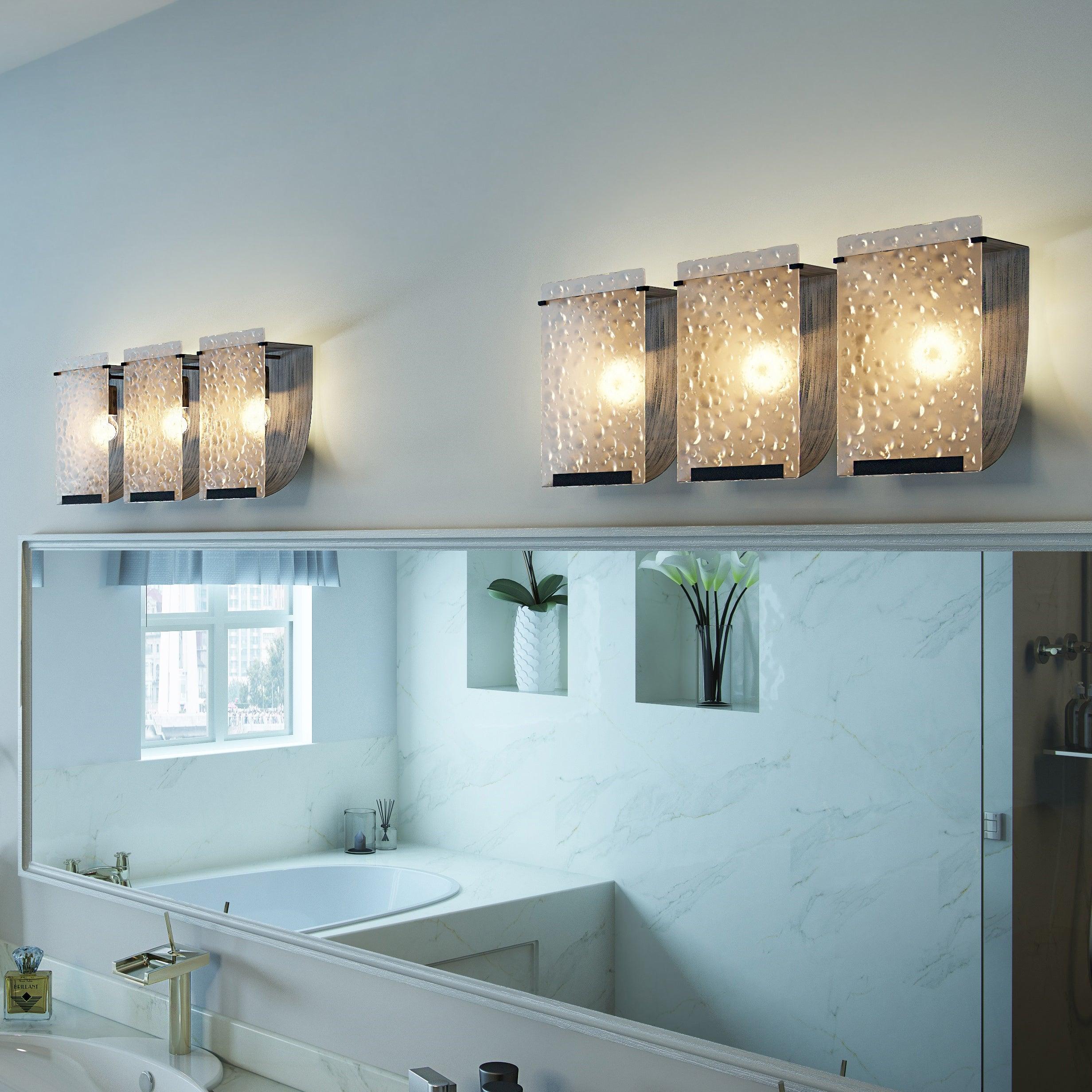 Shop Varaluz Soho Rainy Night Hand-pressed Glass 3-light Wall ...