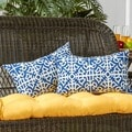 19x12-inch Rectangular Outdoor Indigo Accent Pillows (Set of 2)