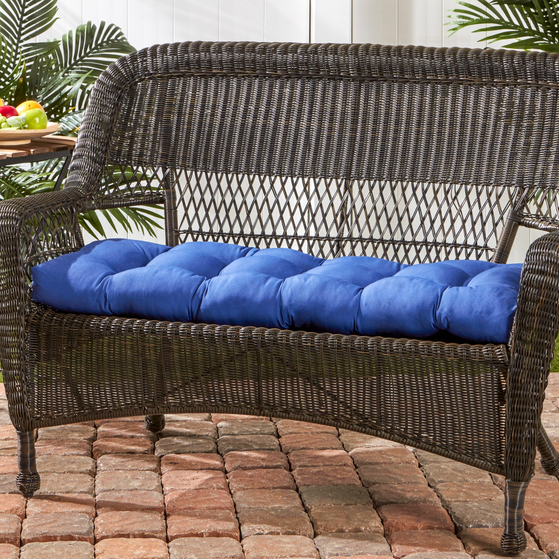 Greendale Home Fashions Marine 44 Inch Outdoor Swing Bench Cushion 17w X 44l