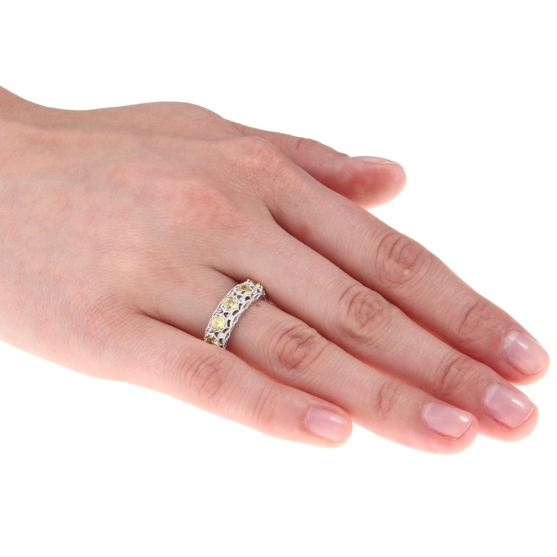 Shop Tacori IV Cubic Zirconia Epiphany Five-stone Crescent Ring ...