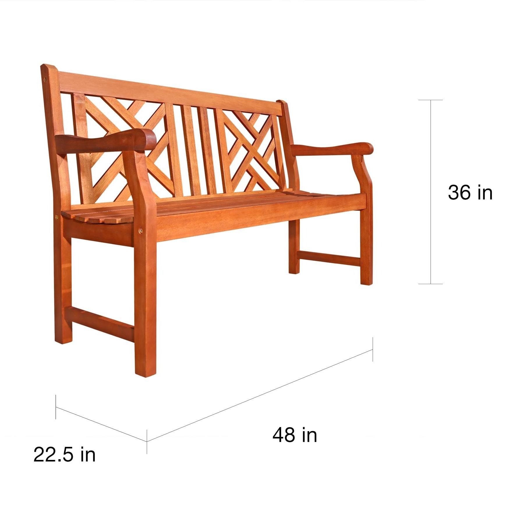 Shop Atlantic 4 Foot Eucalyptus Wood Outdoor Bench   Free Shipping Today    Overstock.com   22727543