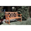 Softcross 4-foot Eucalyptus Wood Outdoor Garden Bench