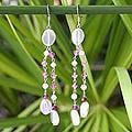 Handmade Sterling Silver 'Shimmer Perfection' Rose Quartz Earrings (Thailand)
