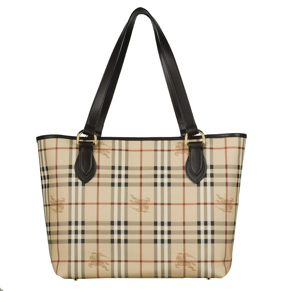 Burberry 3528313 Plaid Tote Bag