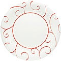 Red Vanilla Panache Rouge Dinner Plates (Set of 6)
