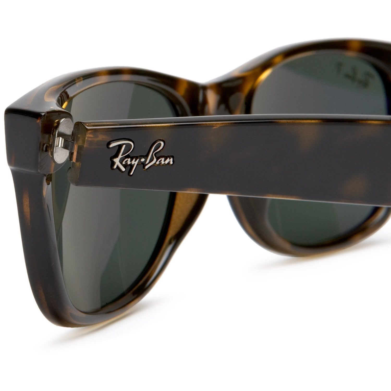 86102ec168 Shop Ray-Ban Wayfarer RB2132 Unisex Havana Frame Green Lens Sunglasses -  Free Shipping Today - Overstock - 6611196