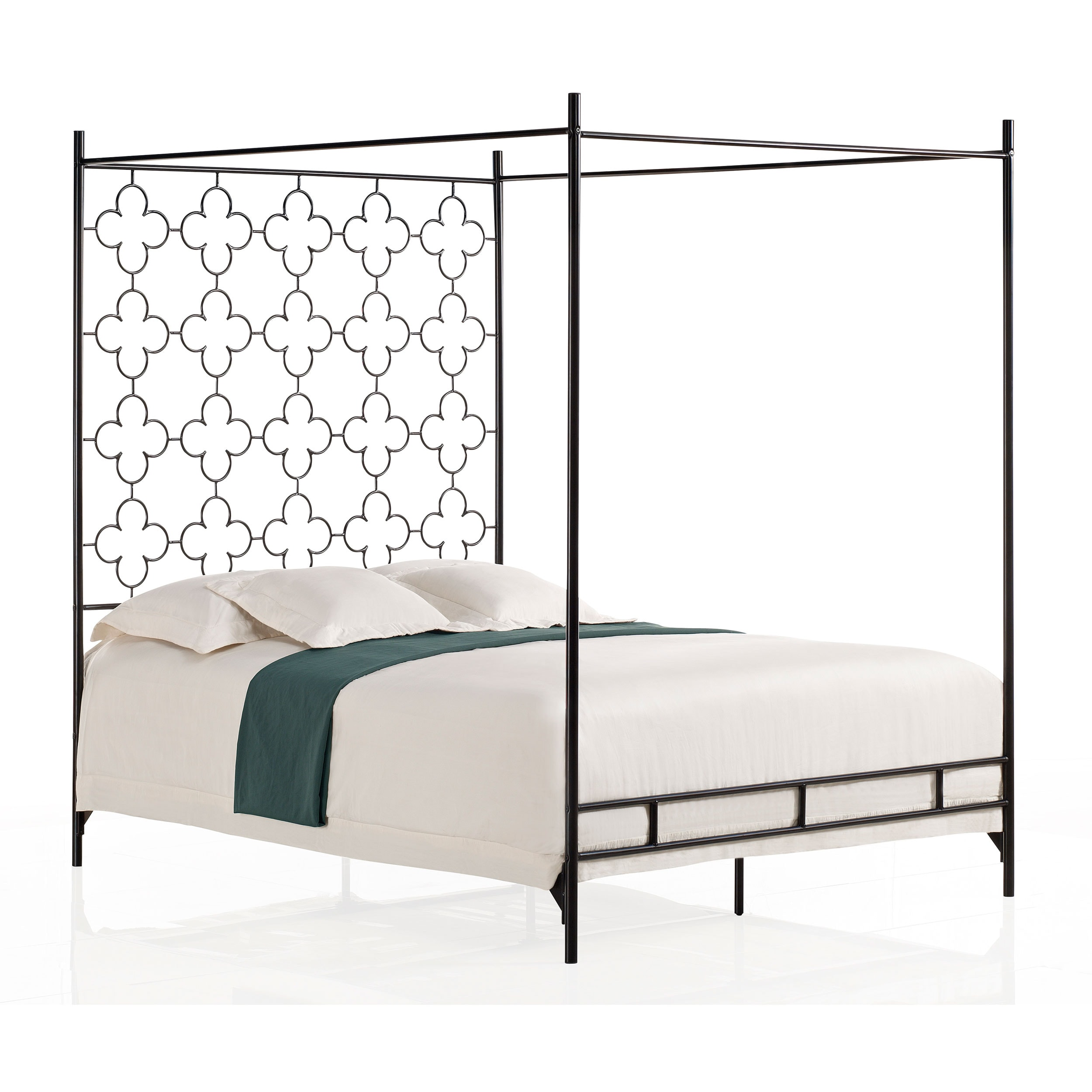 quatrefoil queen canopy bed free shipping today overstockcom 80004545 - Marble Canopy 2015