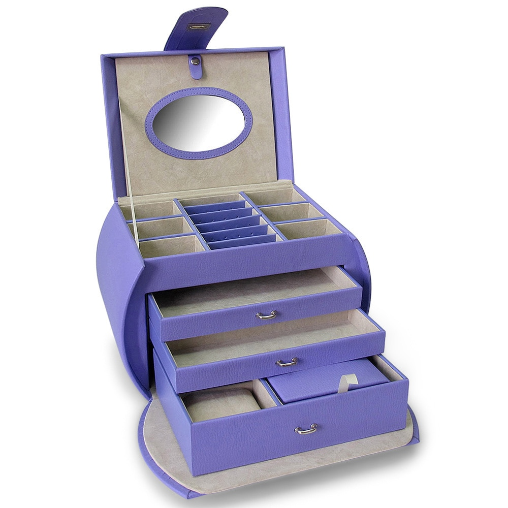 Morelle Diana Leather Jewelry Box with Takeaway Case Free
