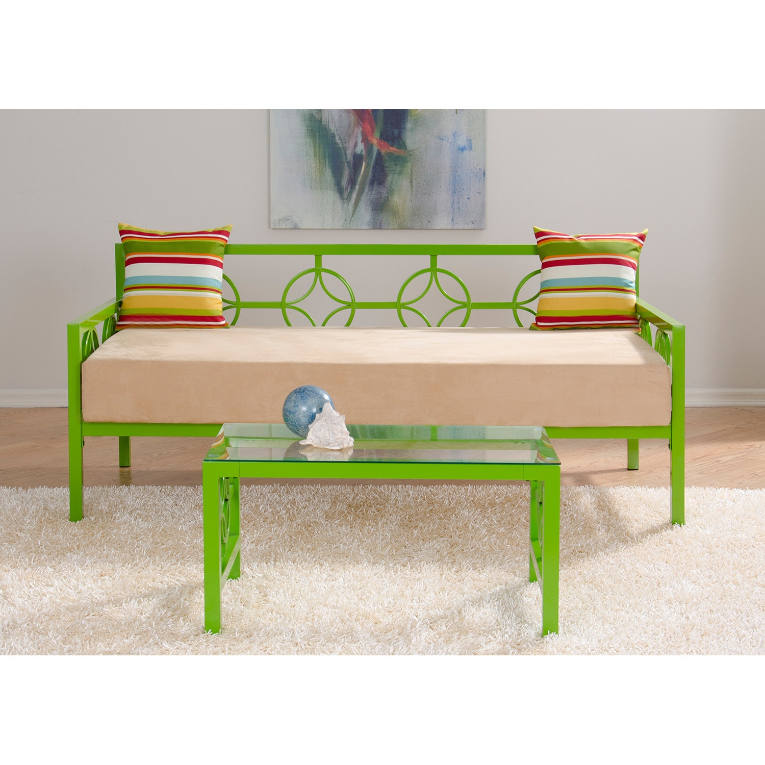Medallion Organic Green Twin Daybed  Free Shipping Today