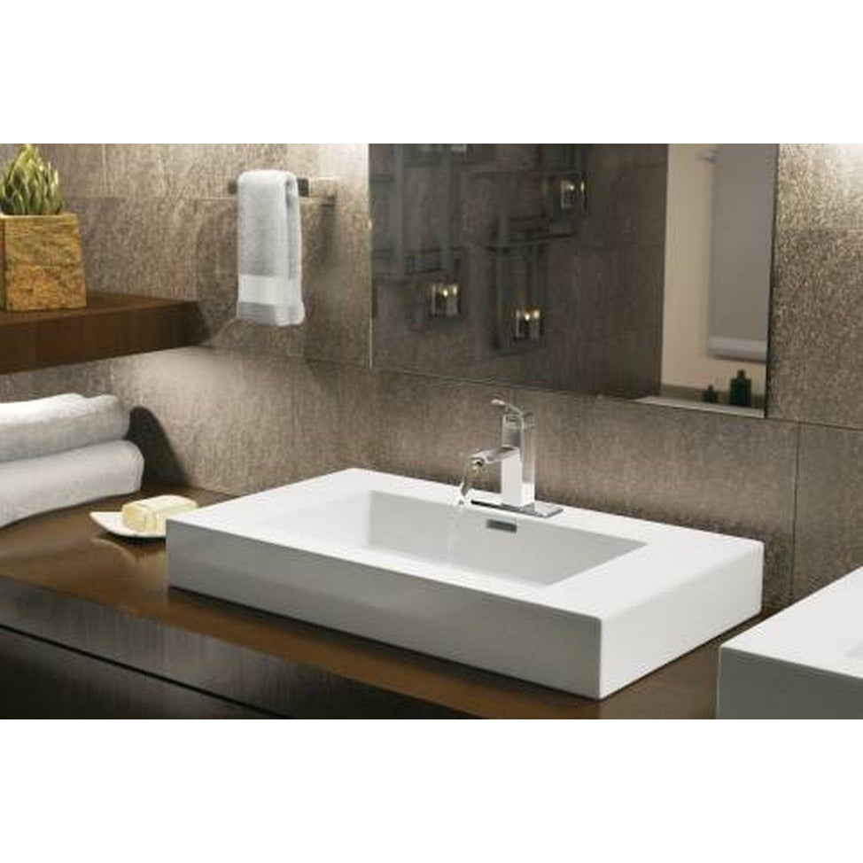 Moen S6700 90-degree One-Handle Low Arc Chrome Bathroom Faucet ...